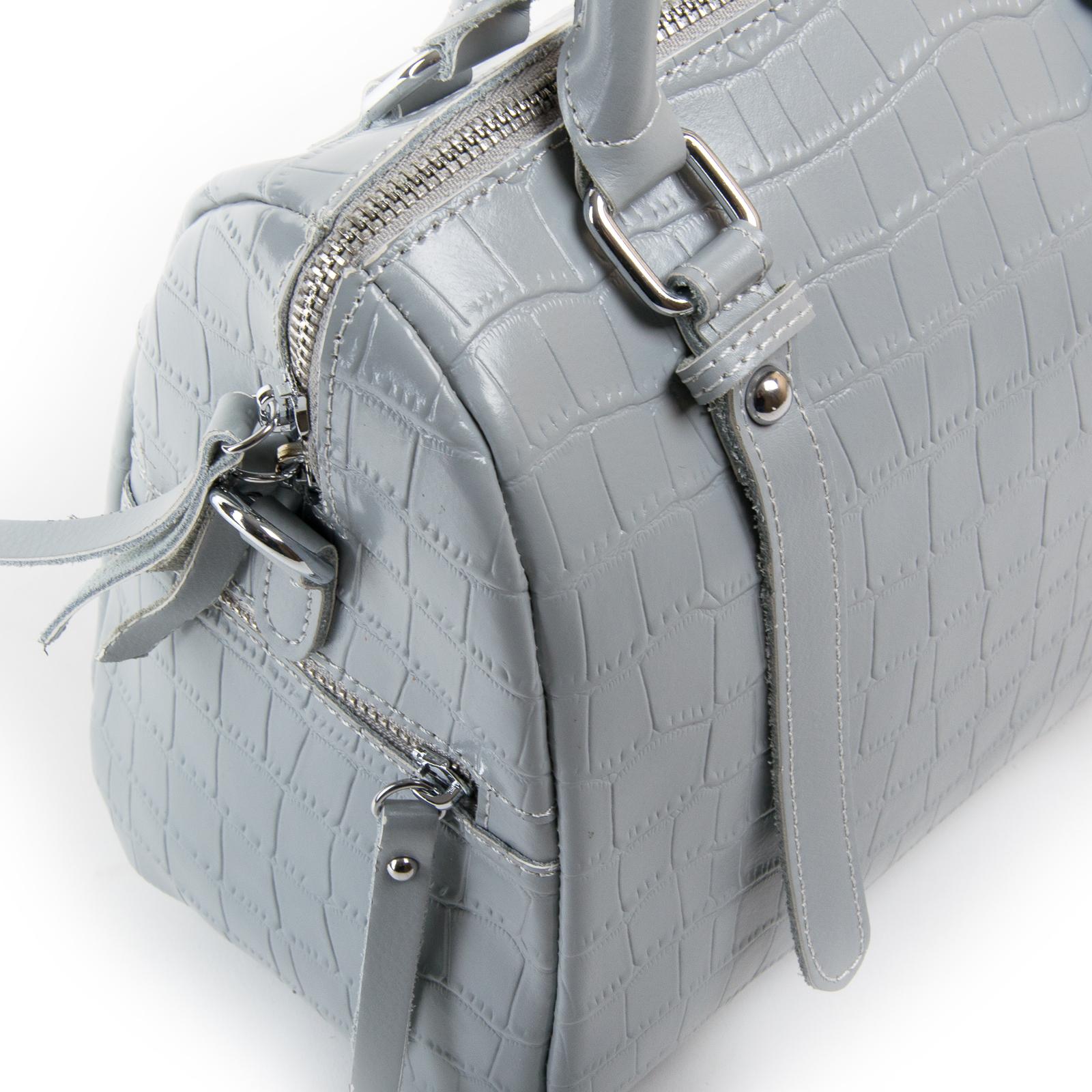 Сумка Женская Классическая кожа ALEX RAI 03-01 2234 grey - фото 3