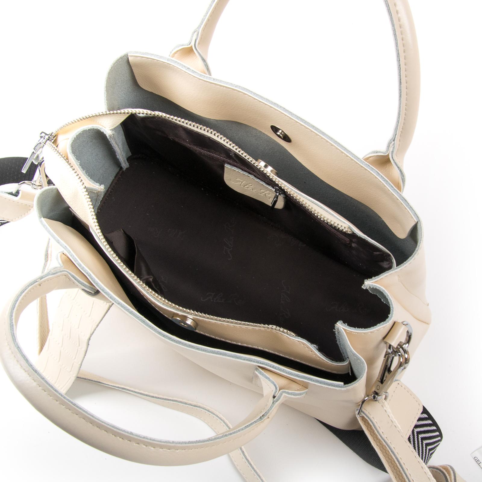 Сумка Женская Классическая кожа ALEX RAI 03-01 2235 beige - фото 5