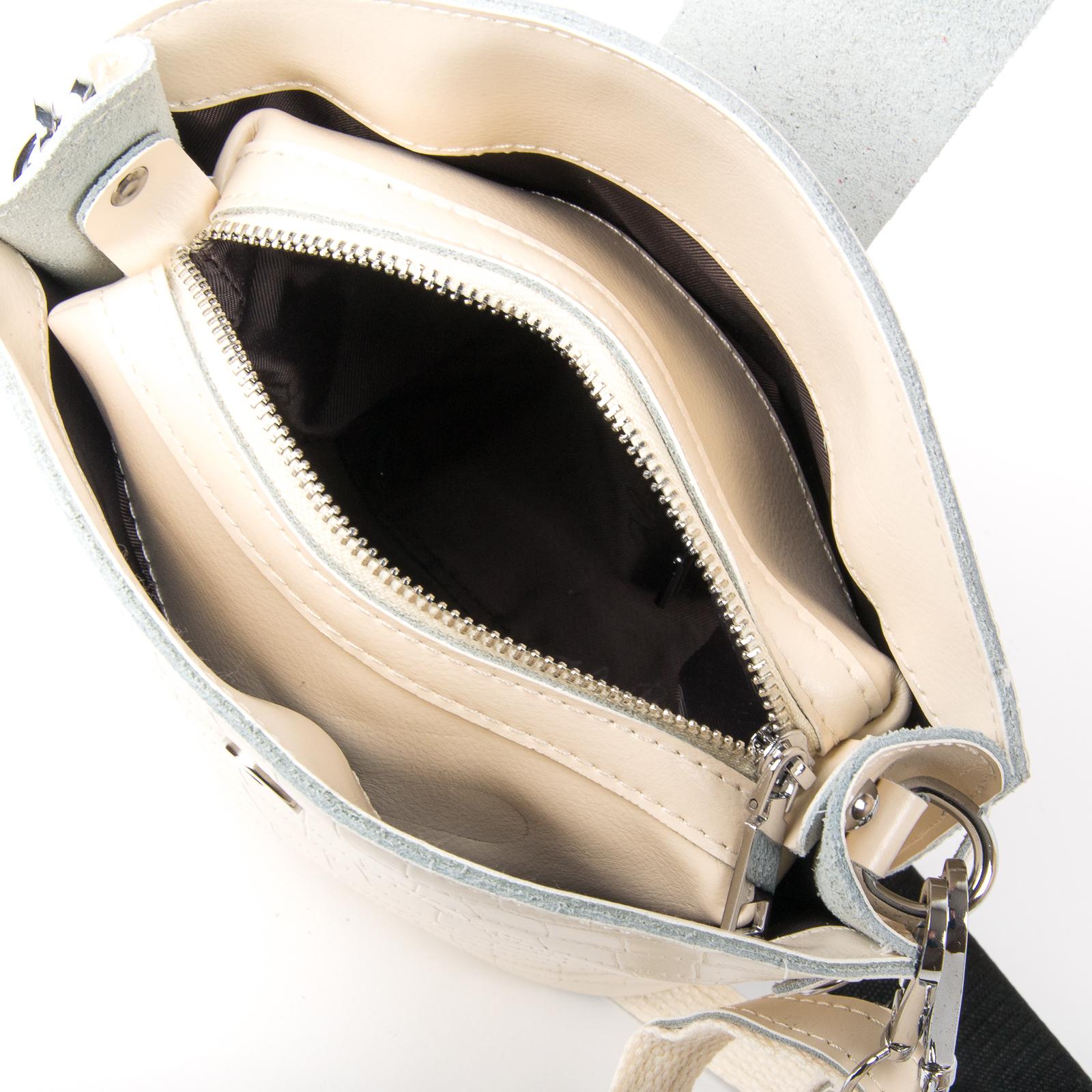Сумка Женская Классическая кожа ALEX RAI 03-01 2237 beige - фото 5
