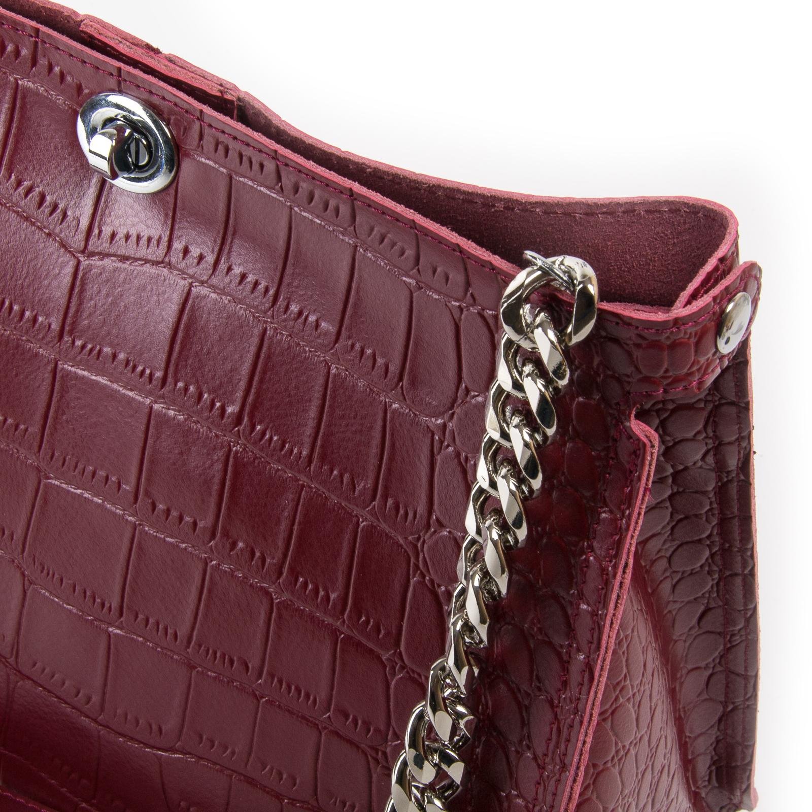 Сумка Женская Классическая кожа ALEX RAI 03-01 3202 light-red - фото 3