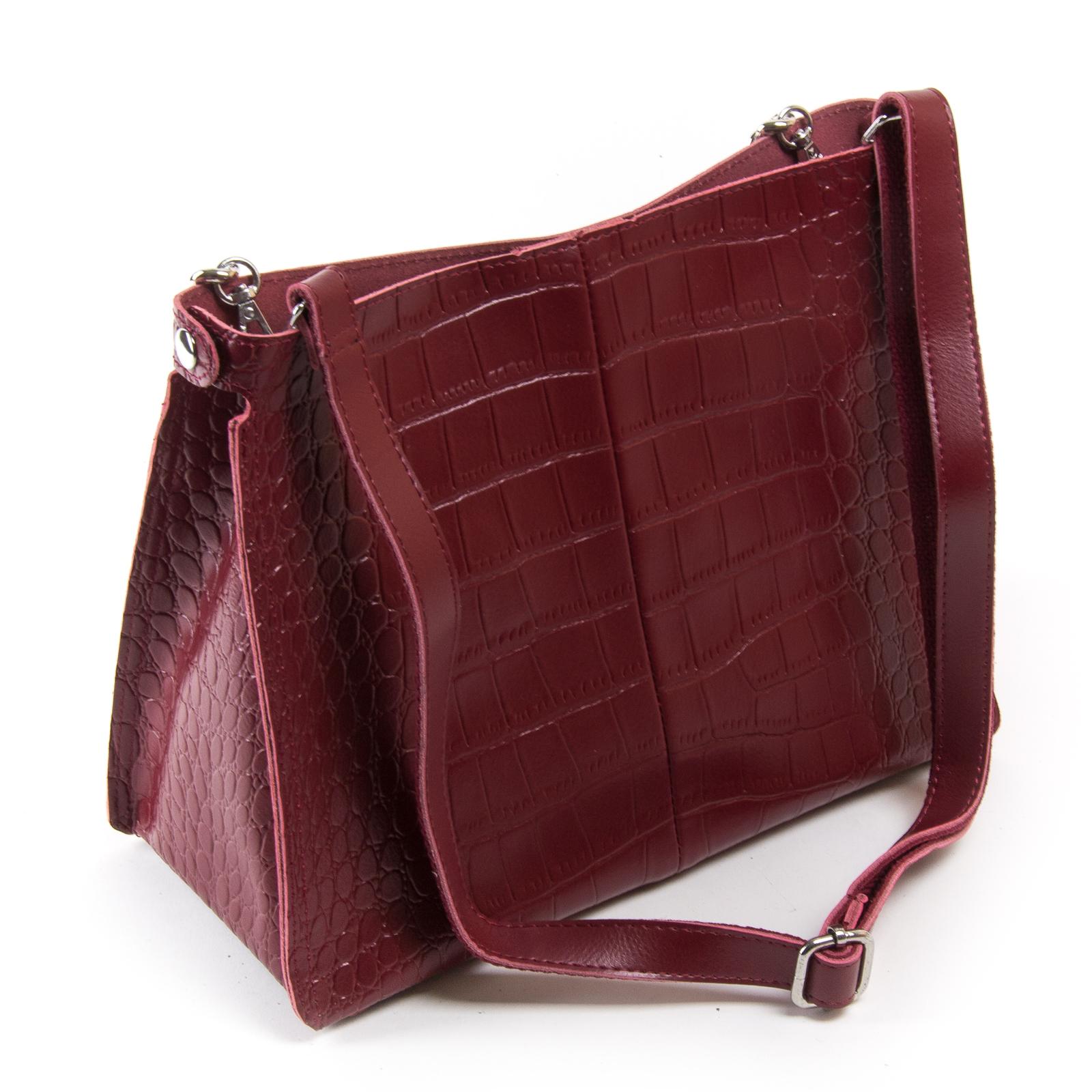 Сумка Женская Классическая кожа ALEX RAI 03-01 3202 light-red - фото 4