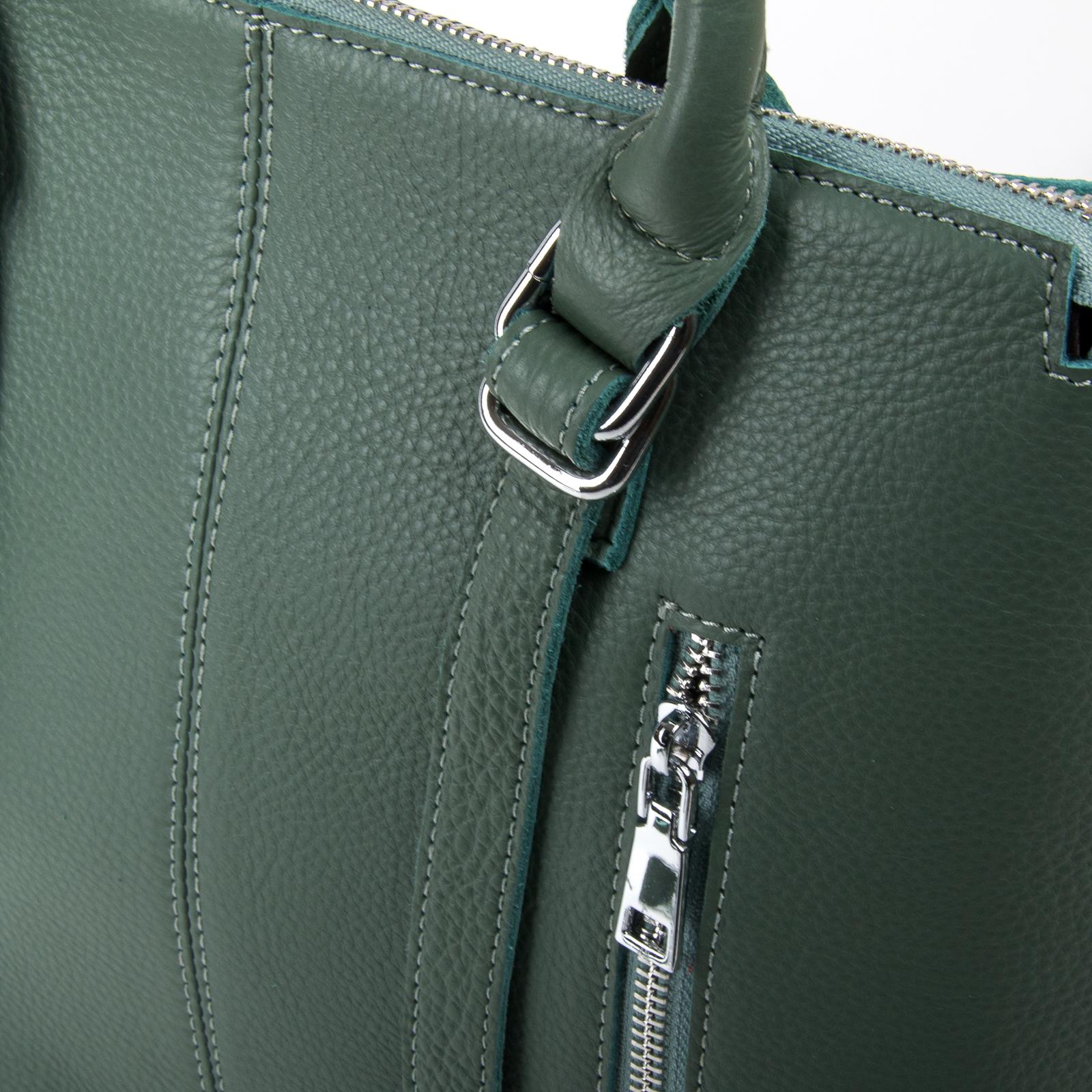 Сумка Женская Классическая кожа ALEX RAI 03-01 7125 light-green - фото 3