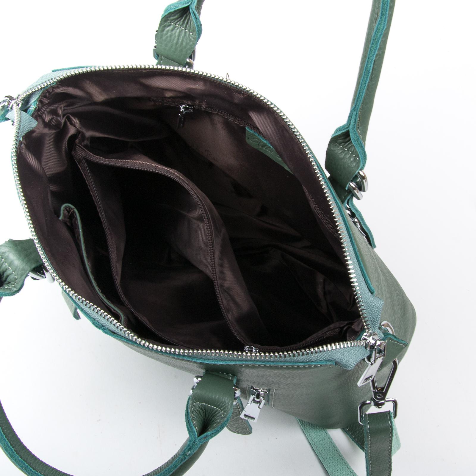 Сумка Женская Классическая кожа ALEX RAI 03-01 7125 light-green - фото 5