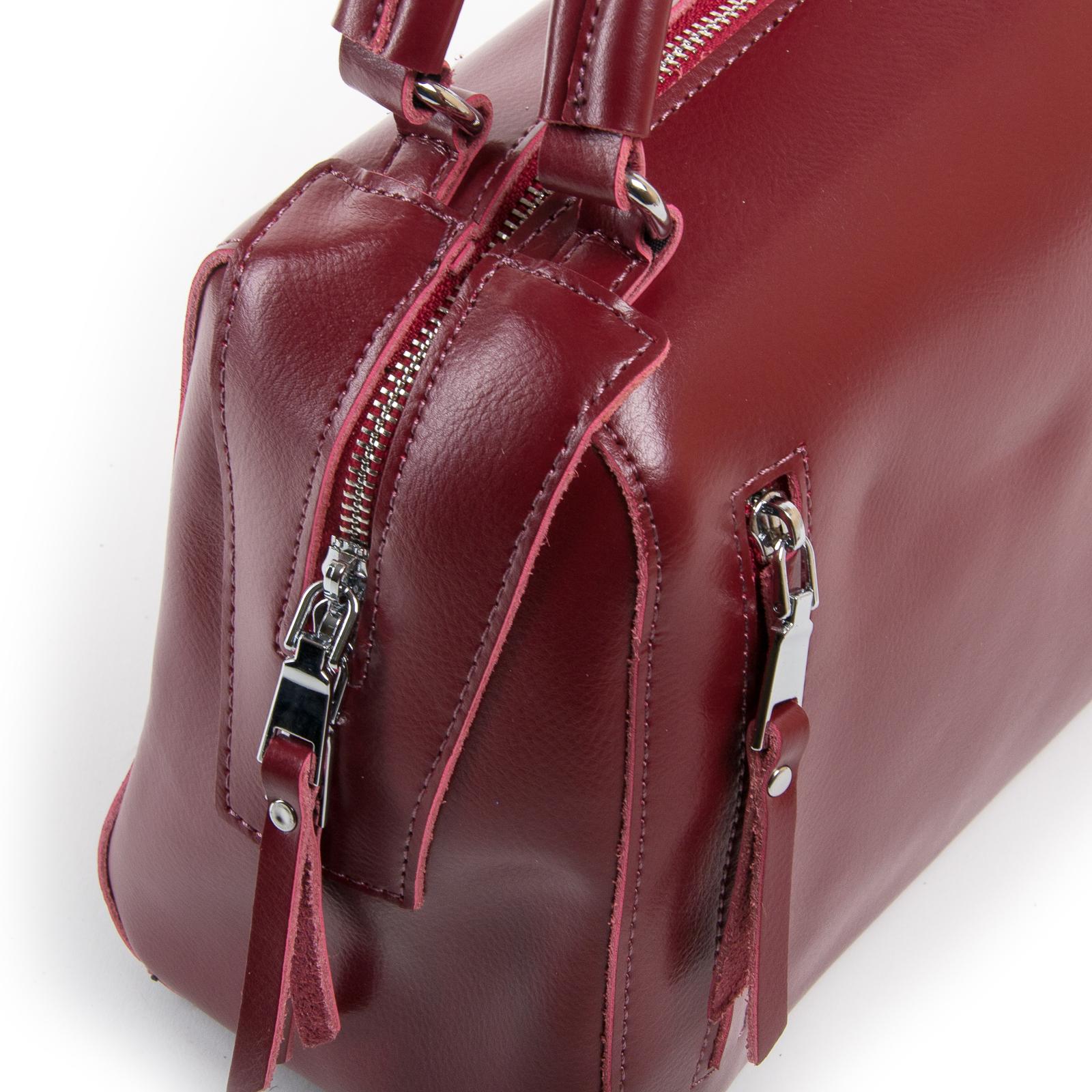 Сумка Женская Классическая кожа ALEX RAI 03-01 8763 wine-red - фото 3