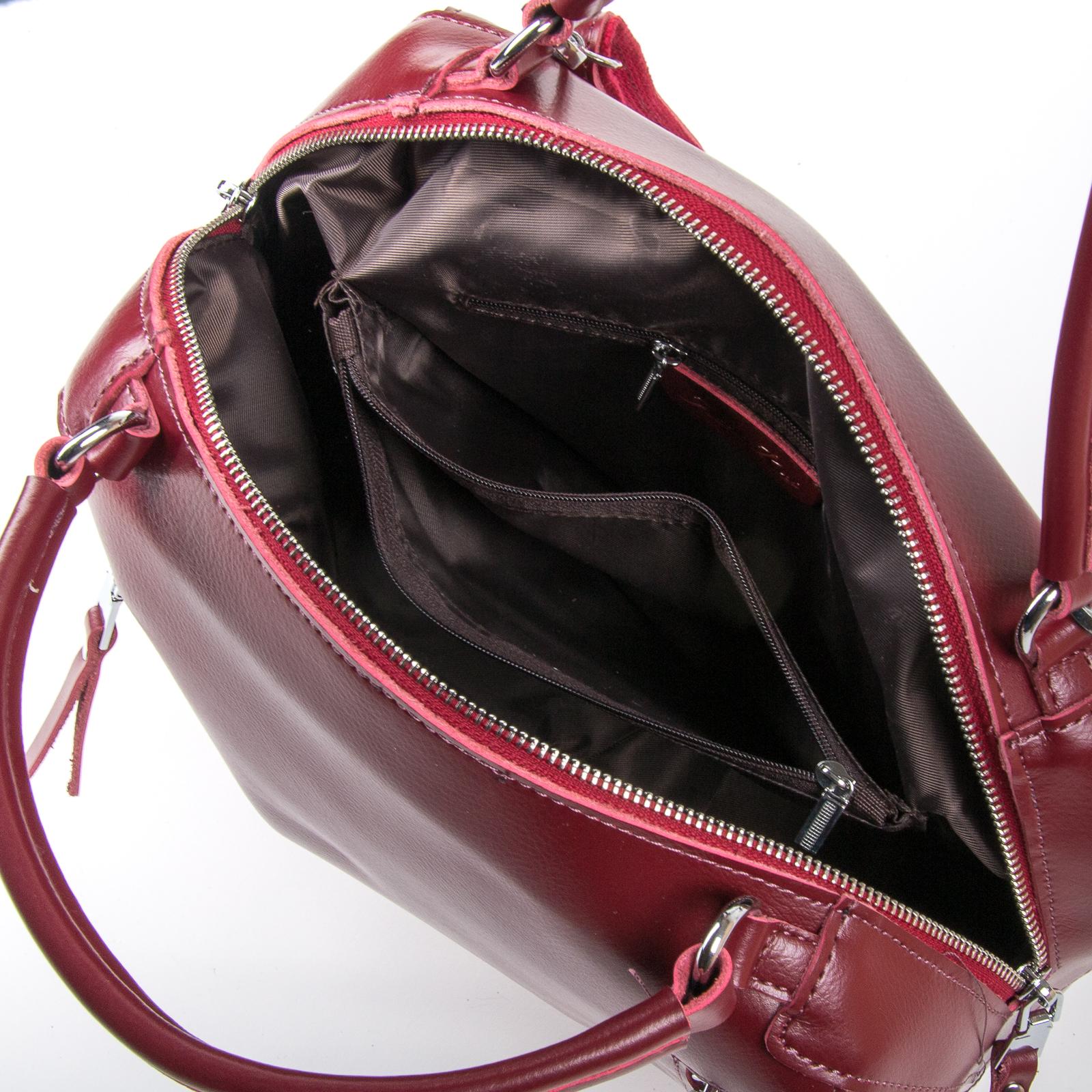 Сумка Женская Классическая кожа ALEX RAI 03-01 8763 wine-red - фото 5