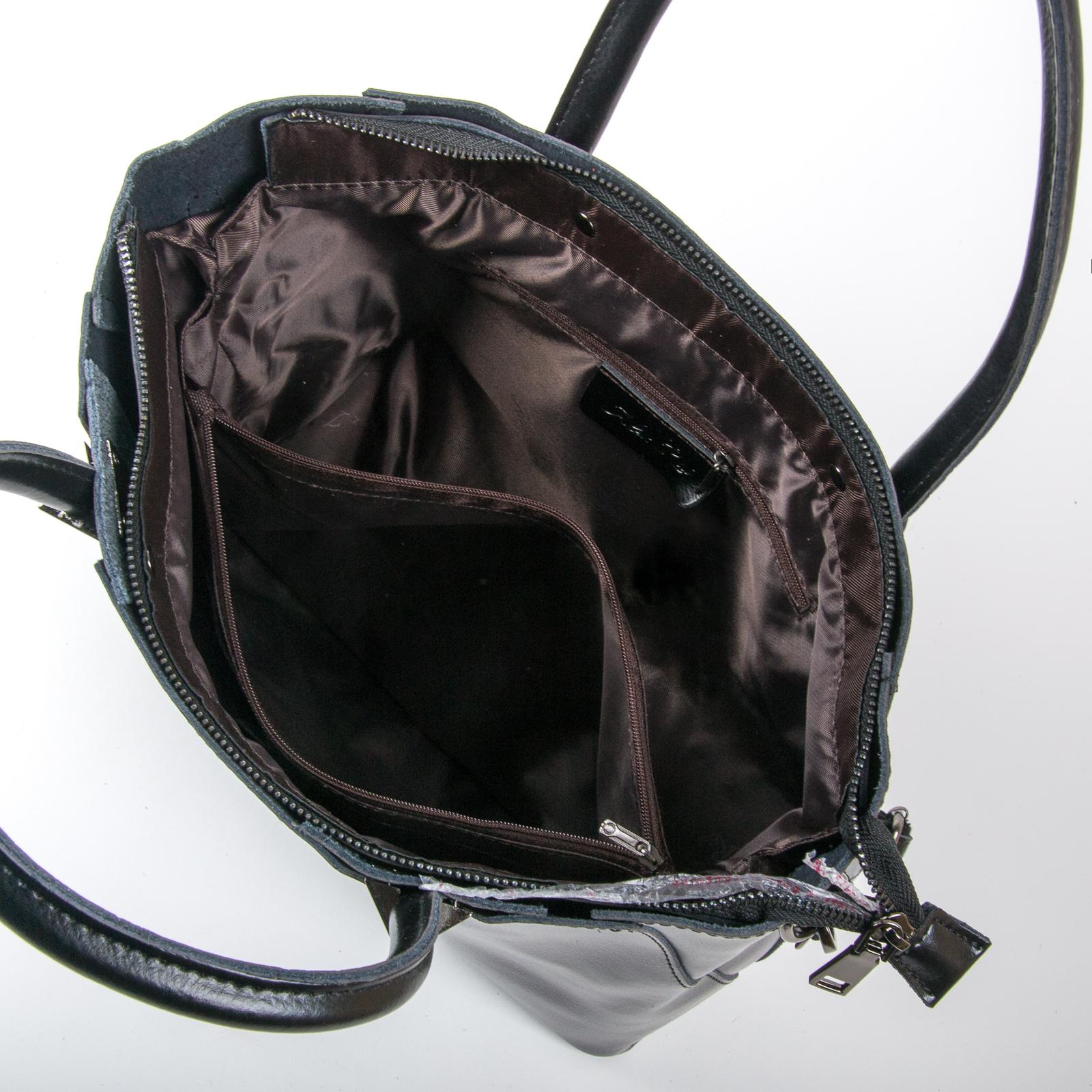 Сумка Женская Классическая кожа ALEX RAI 03-01 8778 black - фото 5