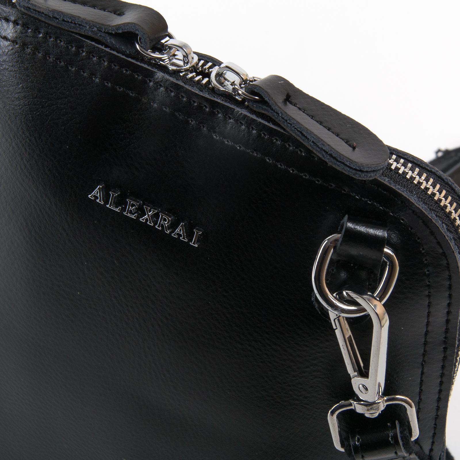 Сумка Женская Классическая кожа ALEX RAI 03-01 8803 black - фото 3