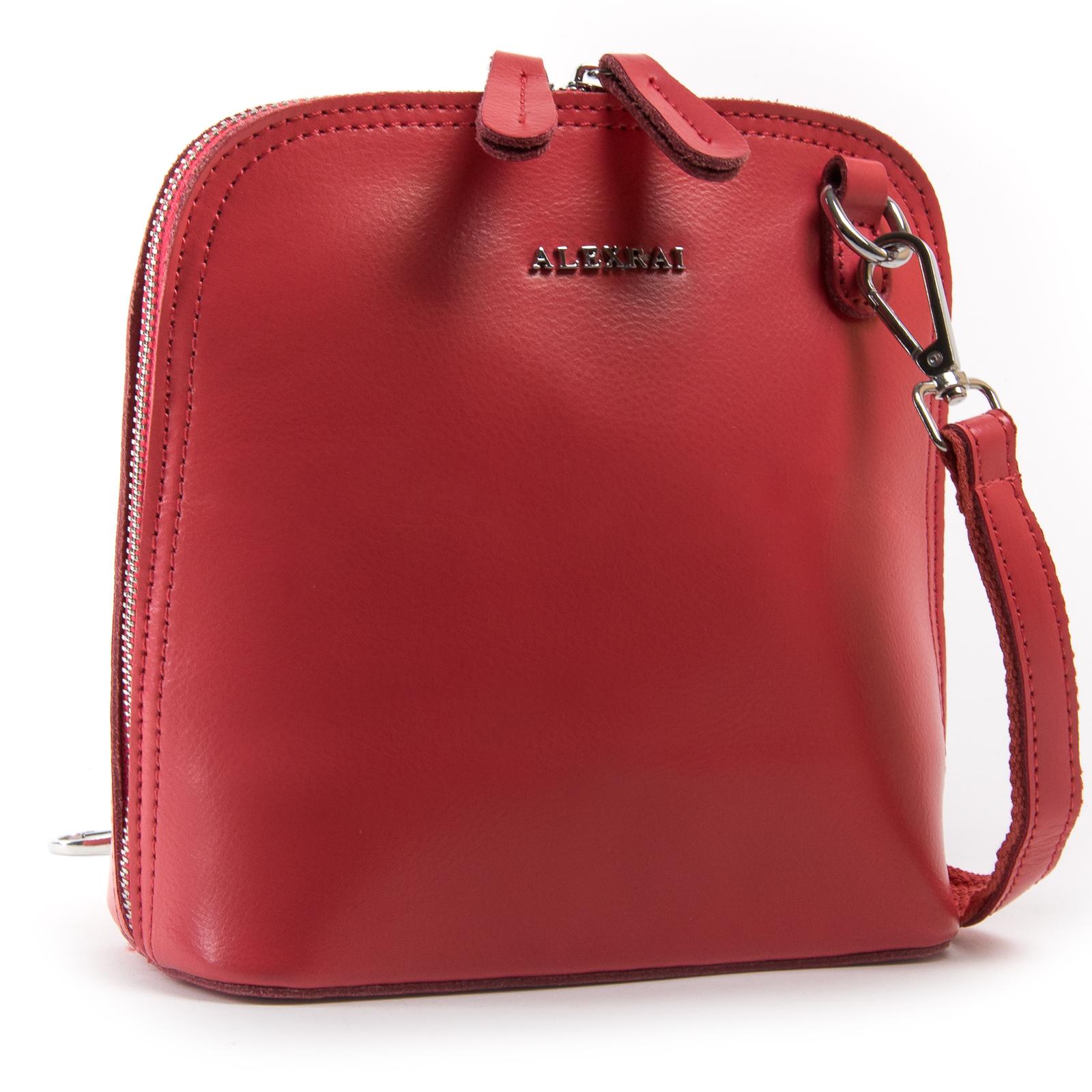 Сумка Женская Классическая кожа ALEX RAI 03-01 8803 scarlet