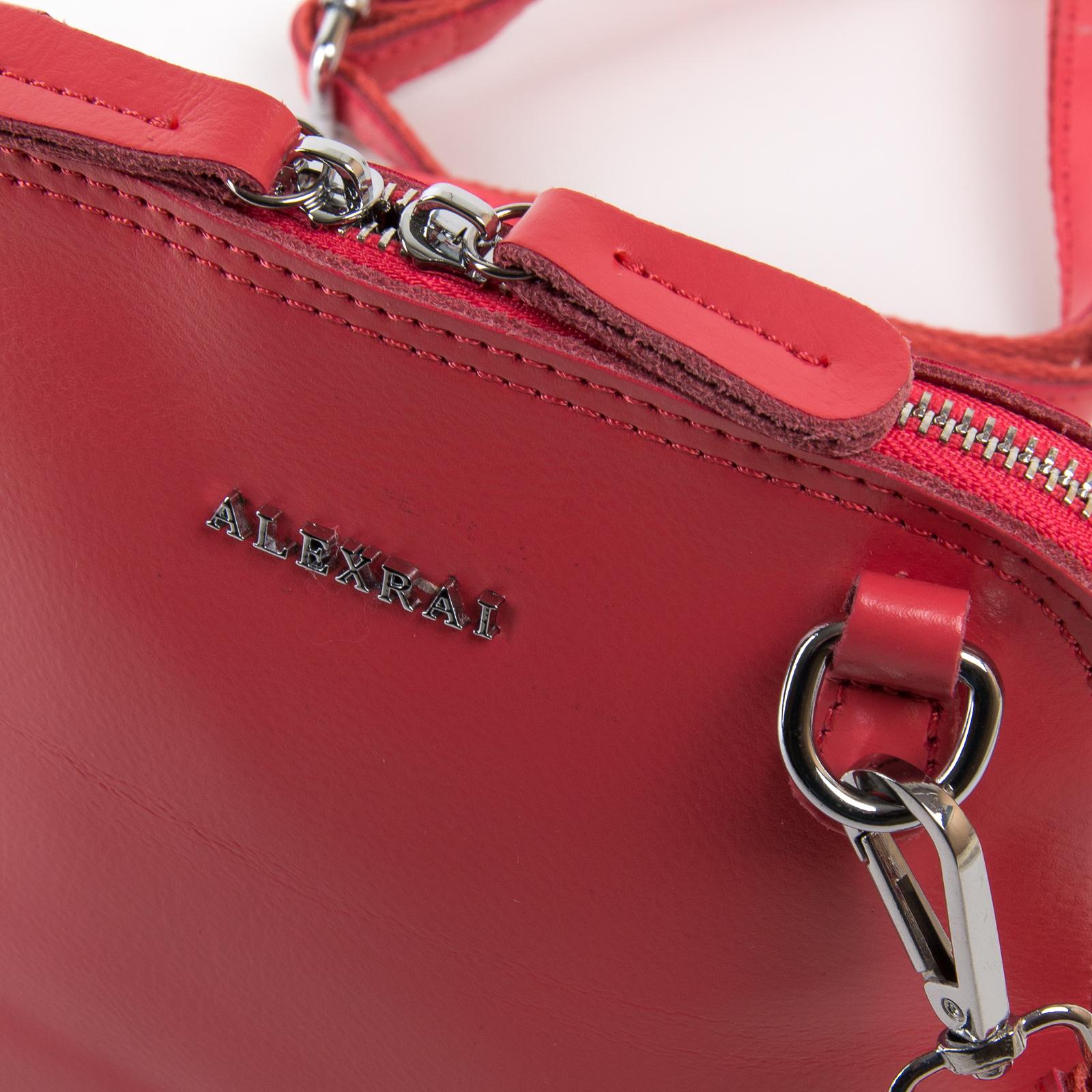 Сумка Женская Классическая кожа ALEX RAI 03-01 8803 scarlet - фото 3
