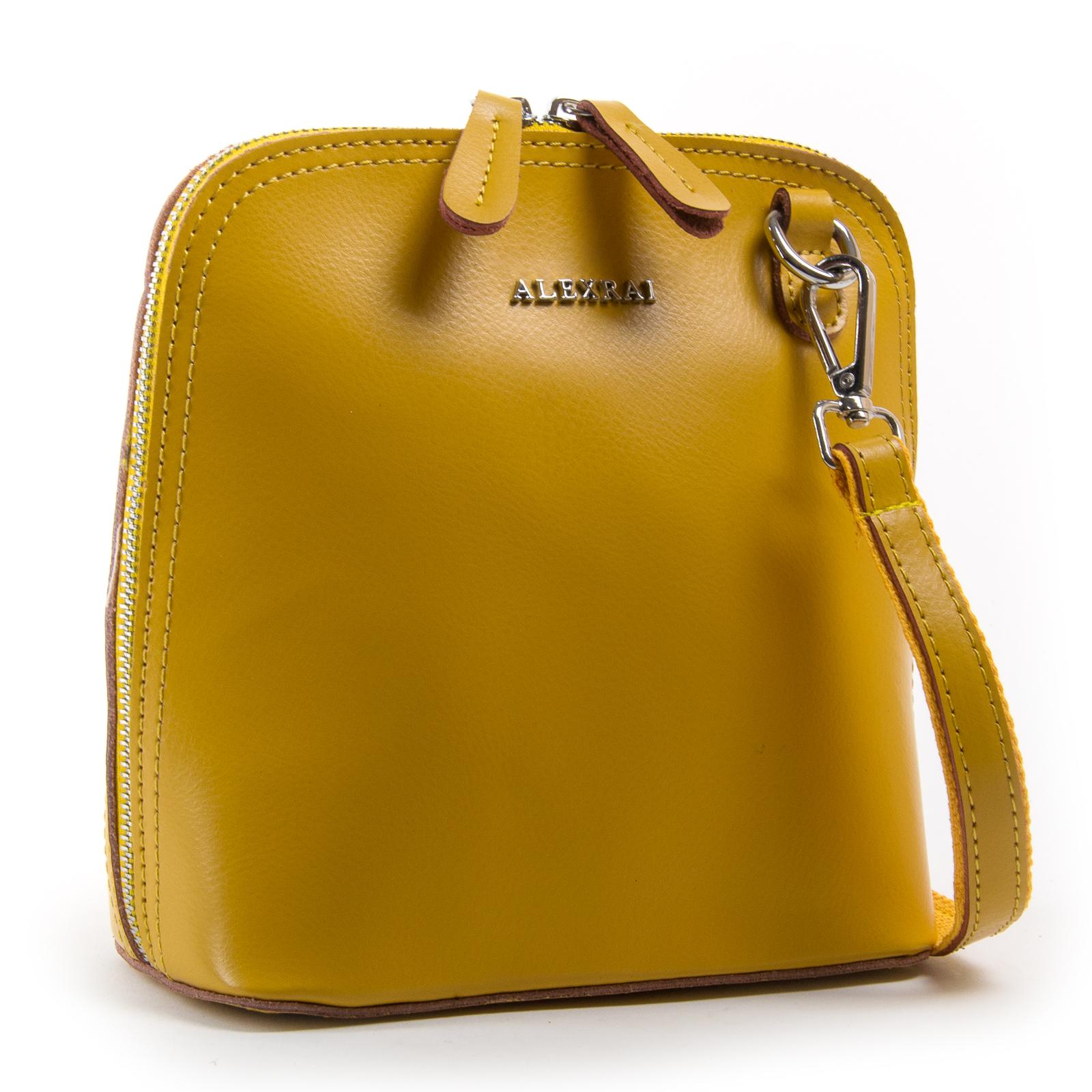 Сумка Женская Классическая кожа ALEX RAI 03-01 8803 yellow