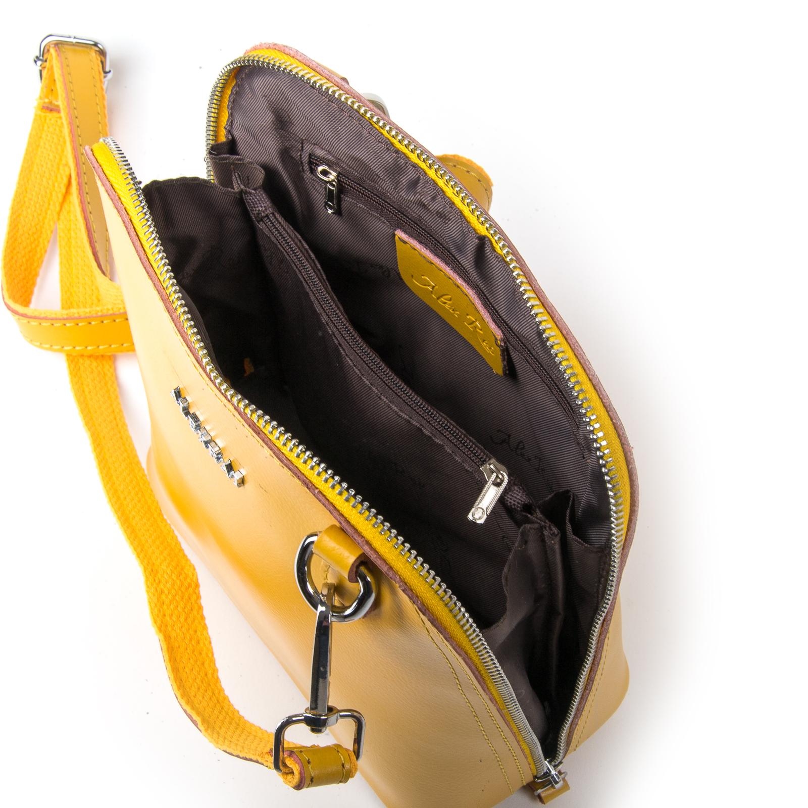 Сумка Женская Классическая кожа ALEX RAI 03-01 8803 yellow - фото 5