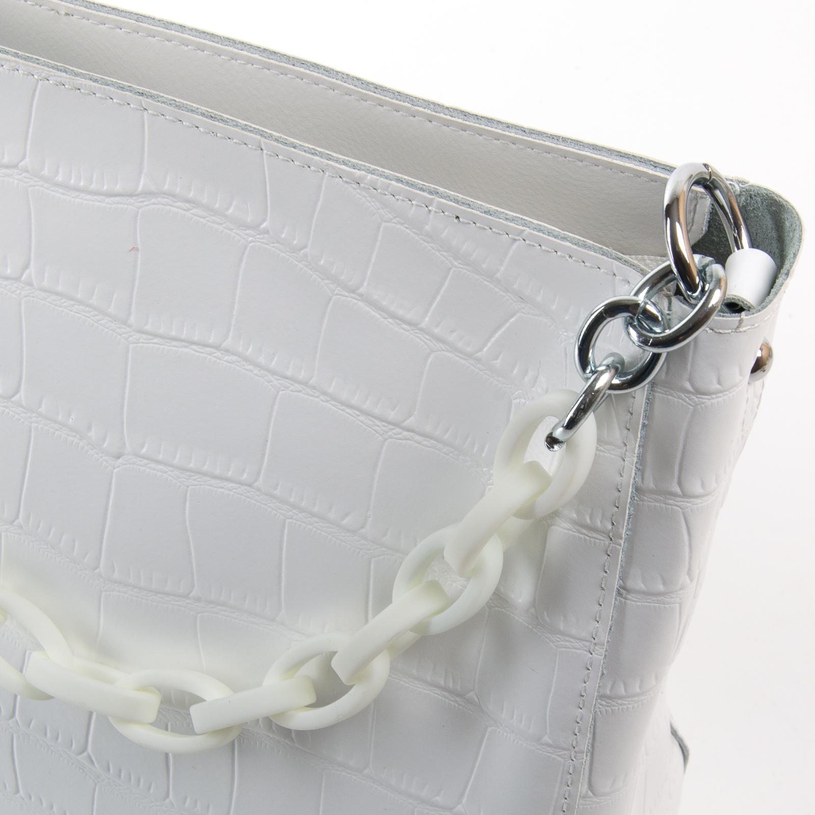 Сумка Женская Классическая кожа ALEX RAI 03-01 9704 white - фото 3