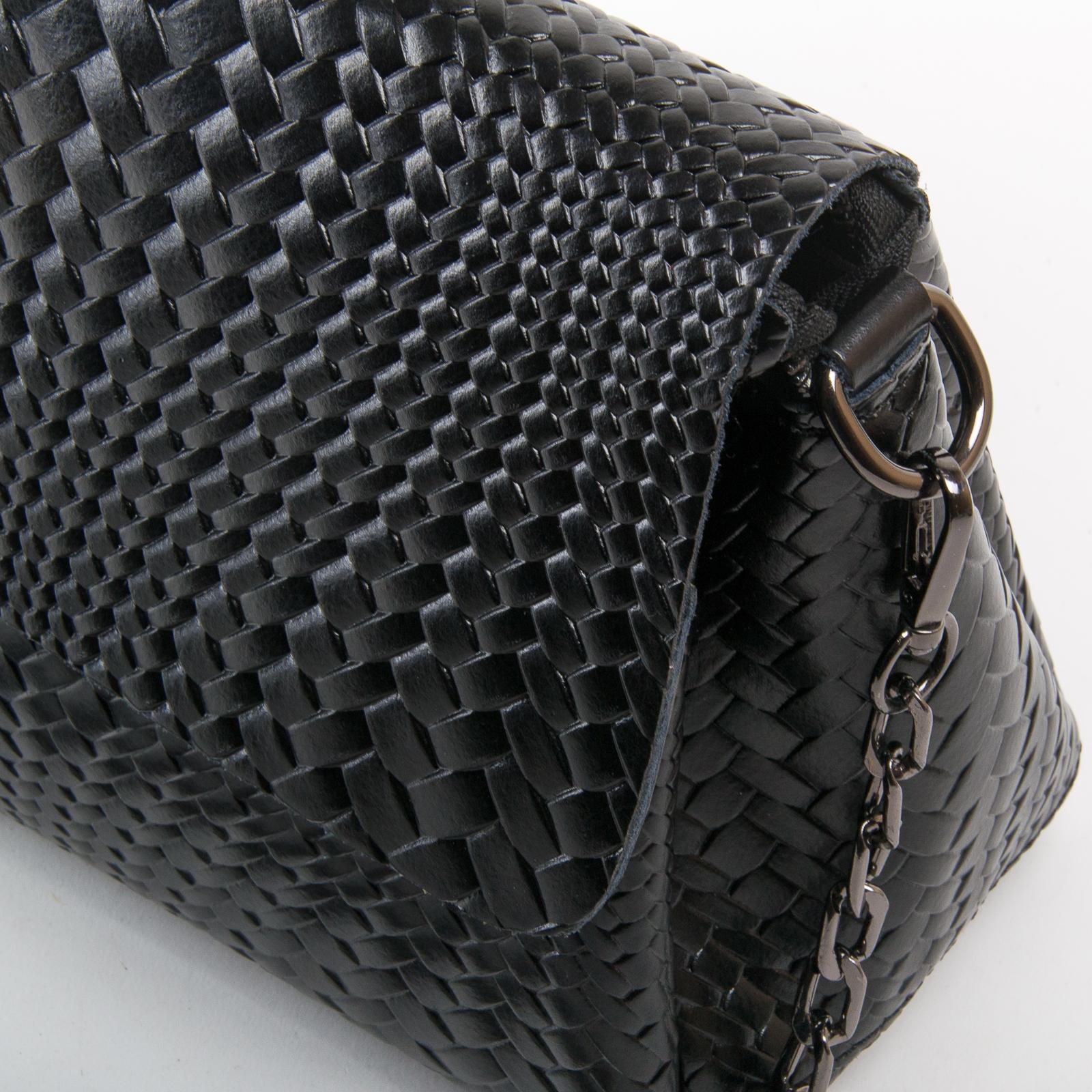 Сумка Женская Классическая кожа ALEX RAI 03-01 J009-1 black - фото 3