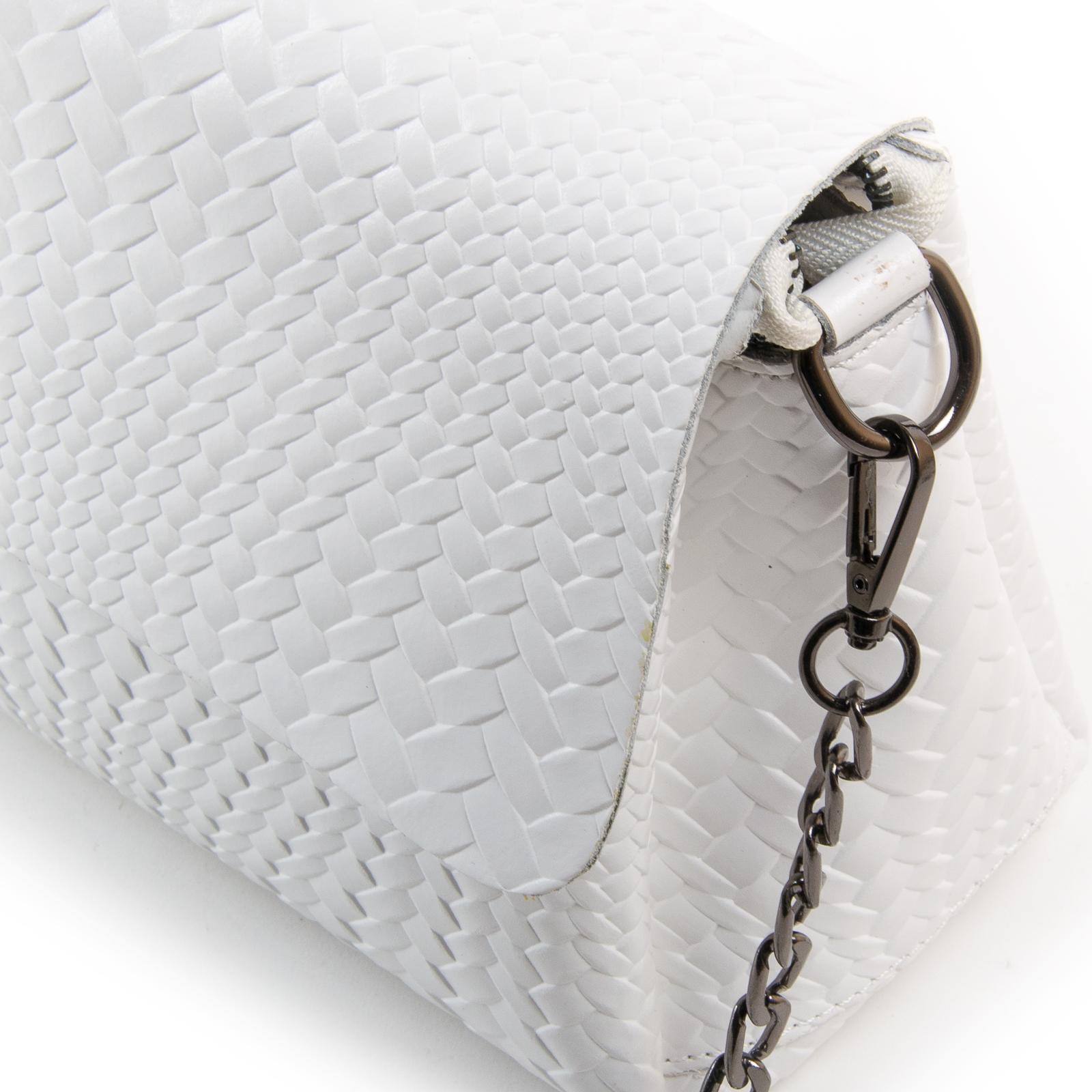 Сумка Женская Классическая кожа ALEX RAI 03-01 J009-1 white - фото 3