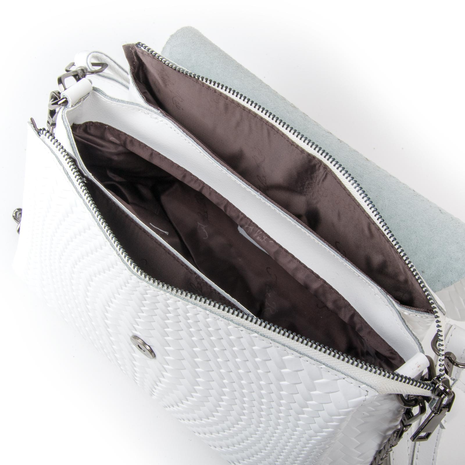 Сумка Женская Классическая кожа ALEX RAI 03-01 J009-1 white - фото 5