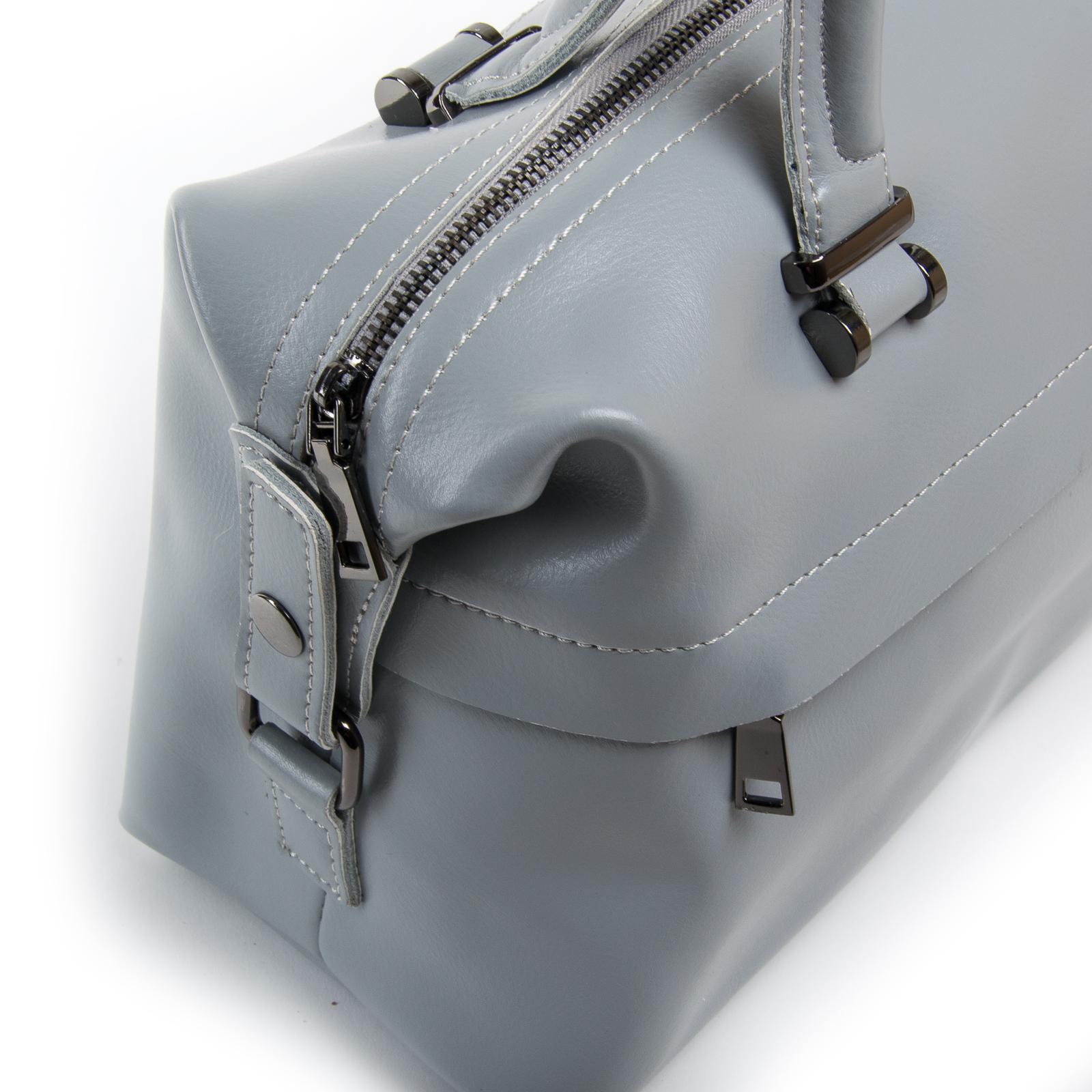 Сумка Женская Классическая кожа ALEX RAI 03-01 P1532 light-grey - фото 3