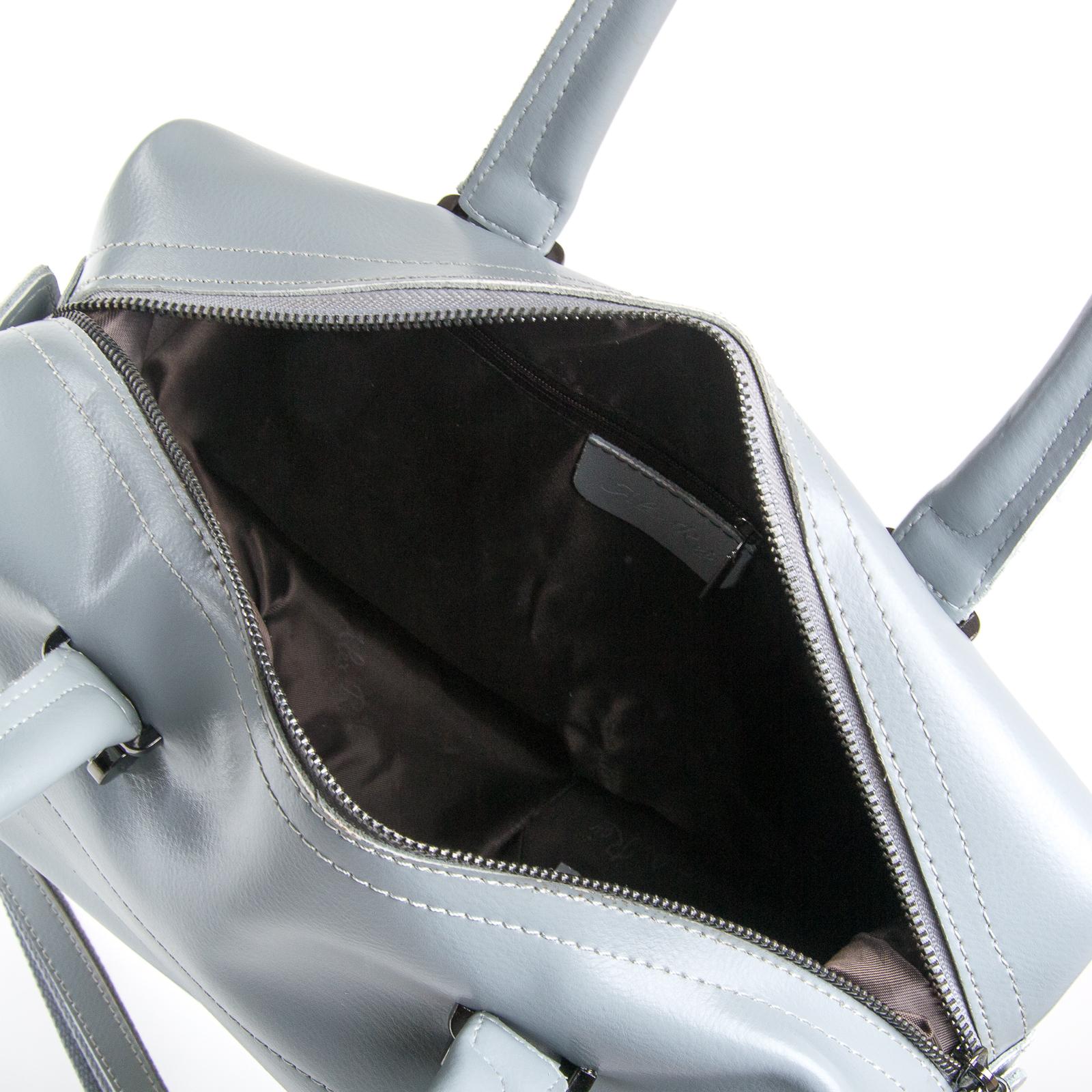 Сумка Женская Классическая кожа ALEX RAI 03-01 P1532 light-grey - фото 5
