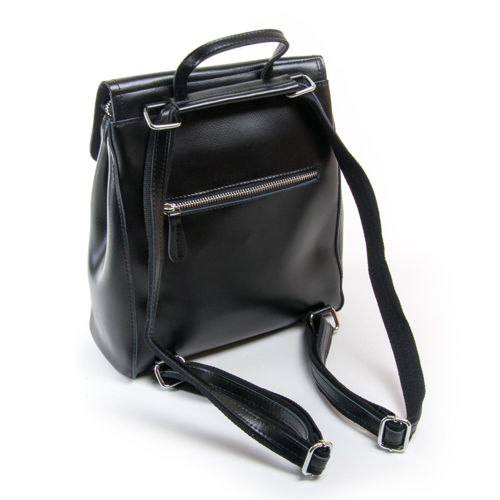 Сумка Женская Рюкзак кожа ALEX RAI 03-01 1005 black - фото 4