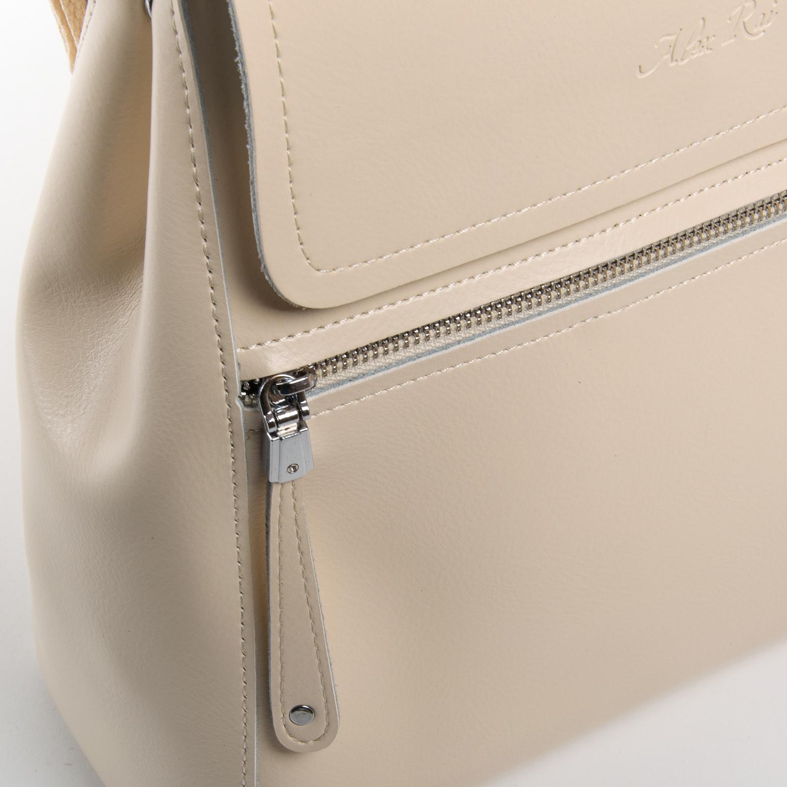 Сумка Женская Рюкзак кожа ALEX RAI 03-01 1005 light-beige - фото 3