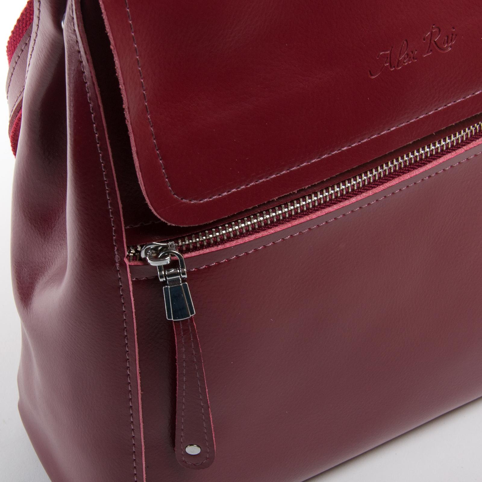 Сумка Женская Рюкзак кожа ALEX RAI 03-01 1005 light-red - фото 3