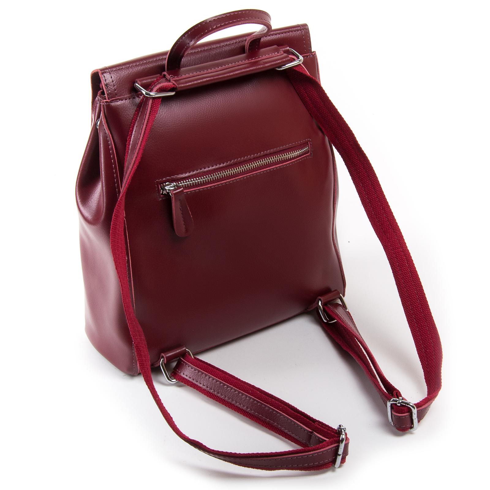 Сумка Женская Рюкзак кожа ALEX RAI 03-01 1005 light-red - фото 4