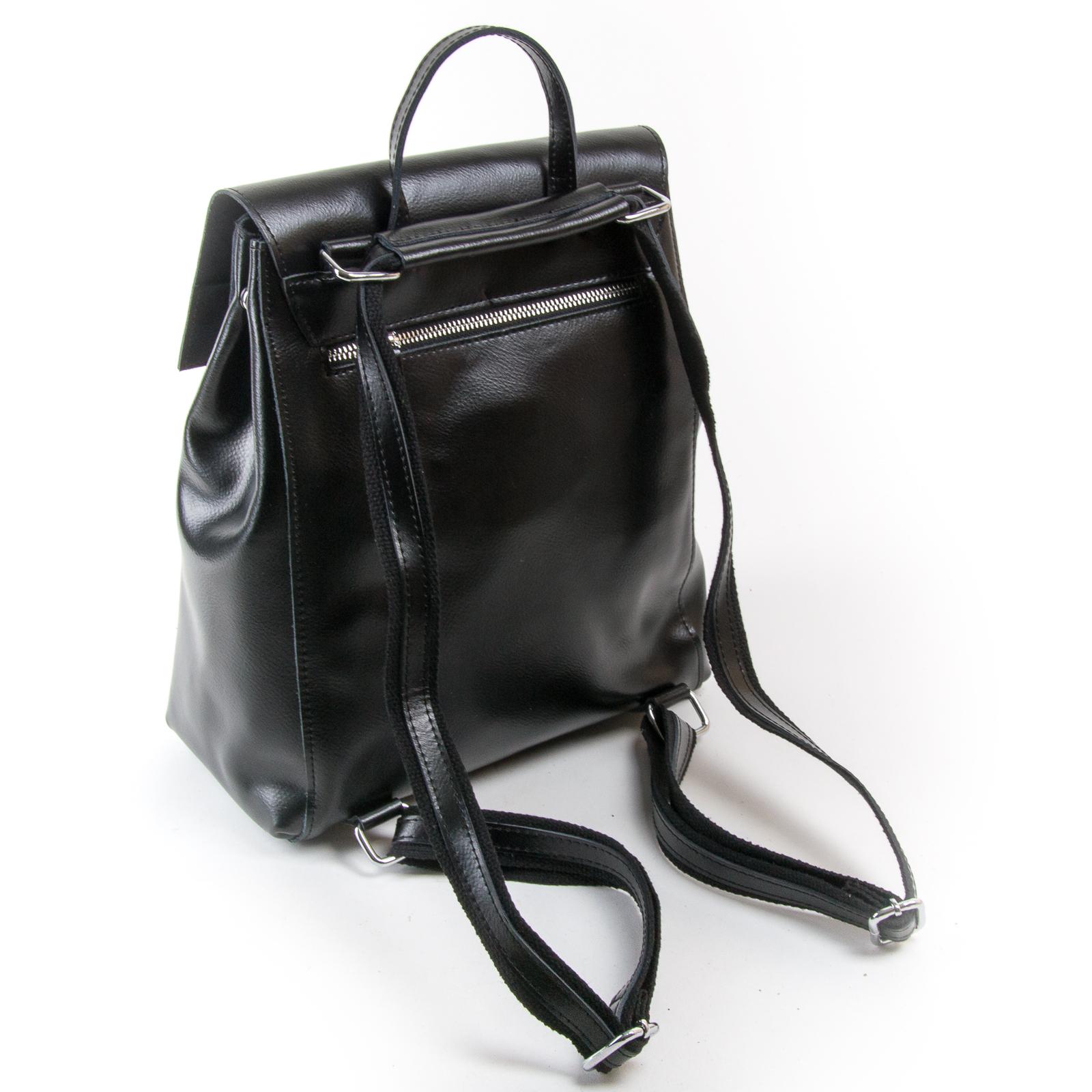 Сумка Женская Рюкзак кожа ALEX RAI 03-01 373 black - фото 4