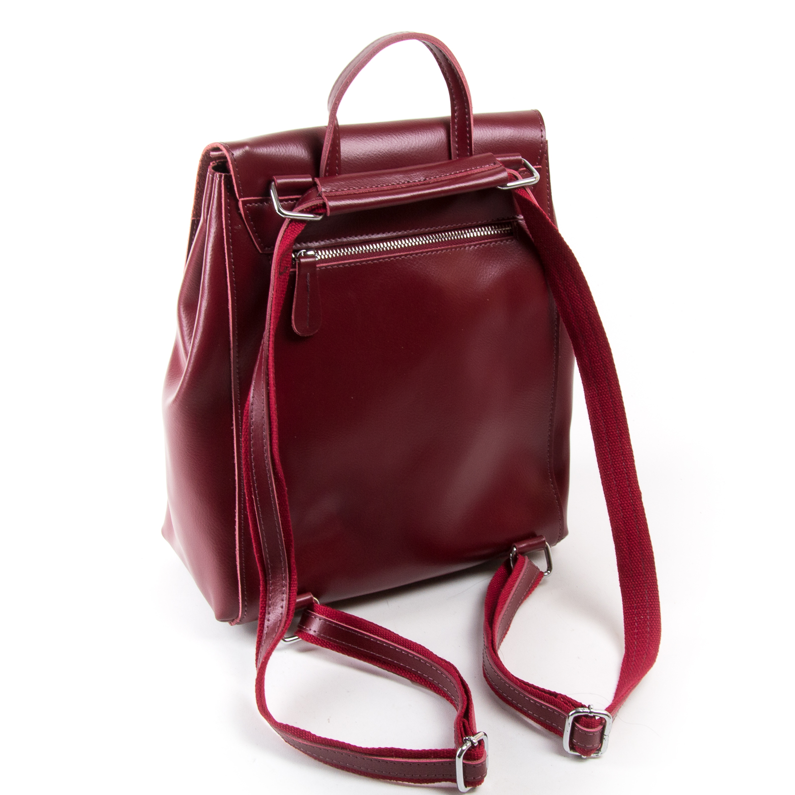 Сумка Женская Рюкзак кожа ALEX RAI 03-01 373 light-red - фото 4