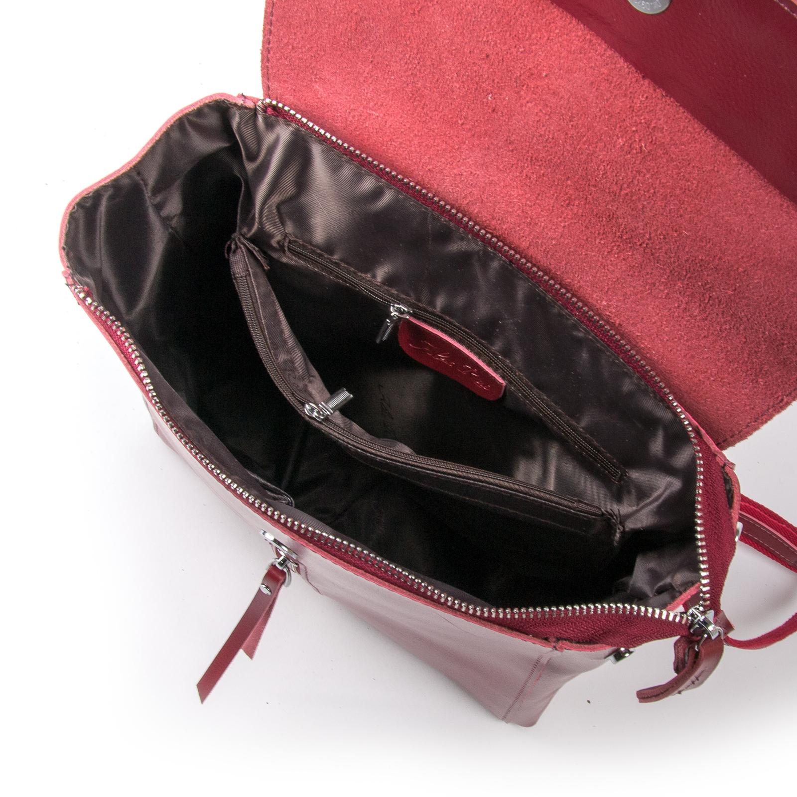 Сумка Женская Рюкзак кожа ALEX RAI 03-01 373 light-red - фото 5