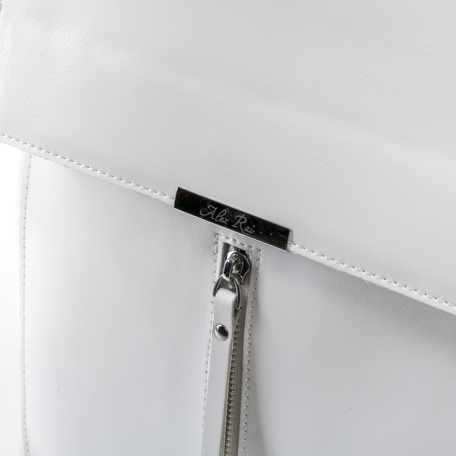 Сумка Женская Рюкзак кожа ALEX RAI 03-01 373 white - фото 3