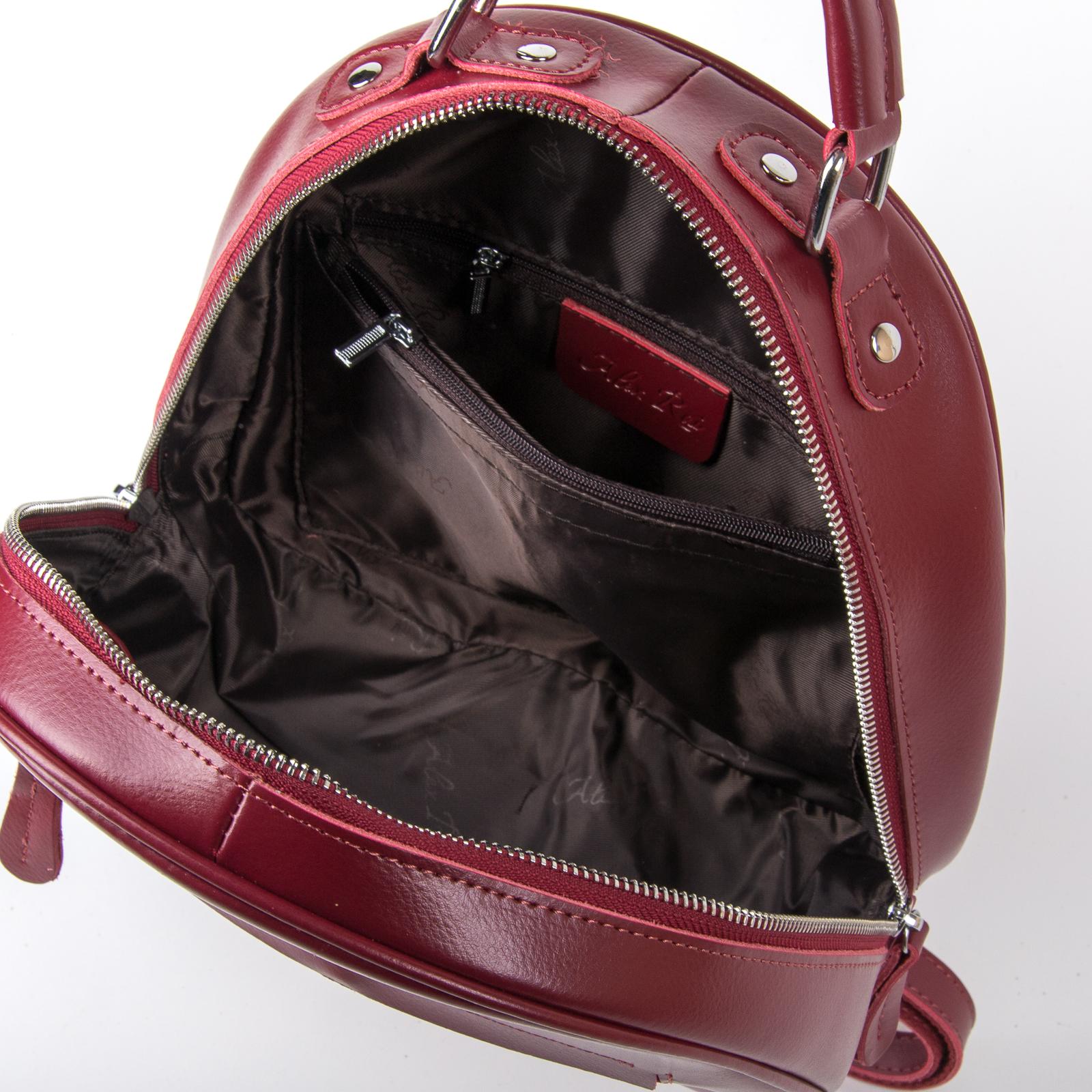 Сумка Женская Рюкзак кожа ALEX RAI 03-01 8715 dark-red - фото 5