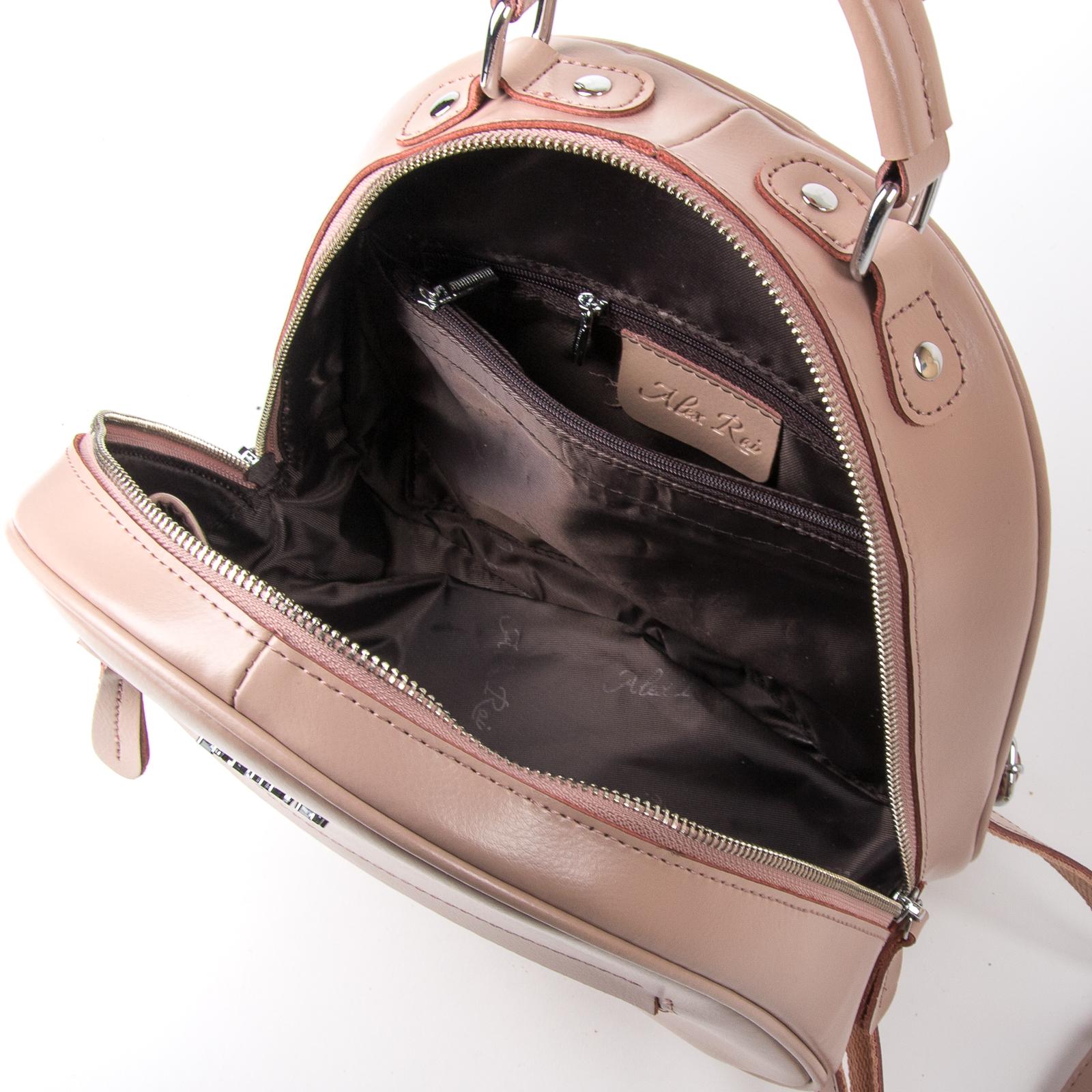 Сумка Женская Рюкзак кожа ALEX RAI 03-01 8715 pink - фото 5