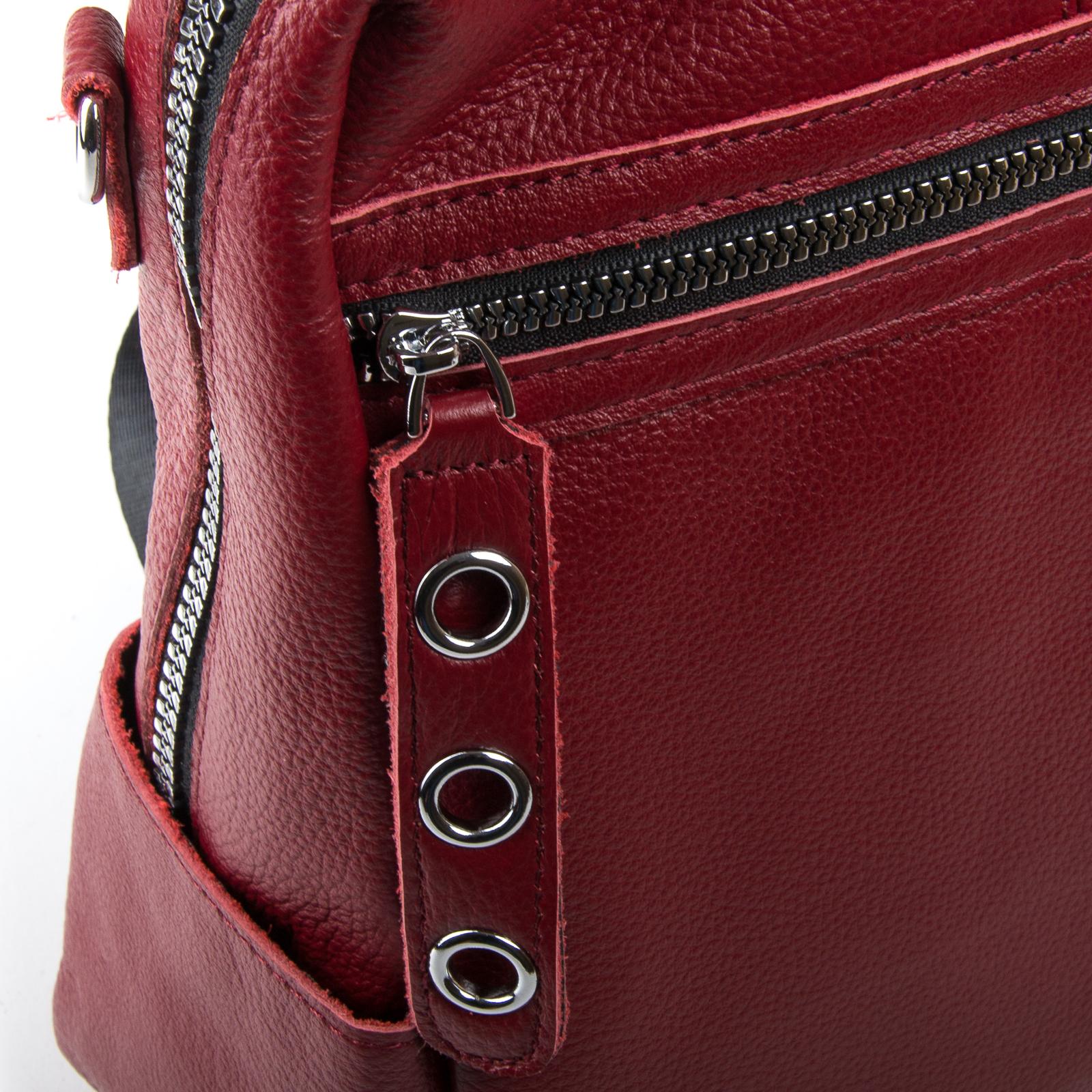 Сумка Женская Рюкзак кожа ALEX RAI 03-01 8781-9 bordo - фото 3