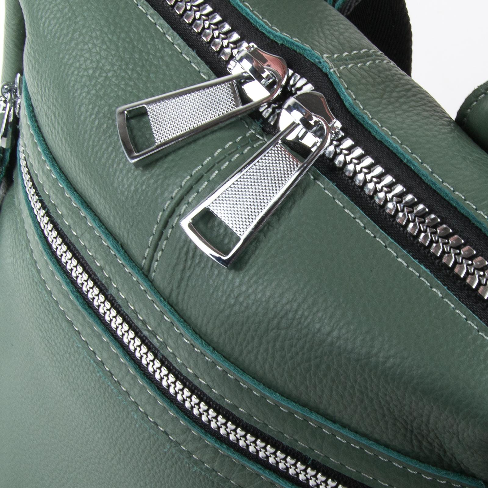 Сумка Женская Рюкзак кожа ALEX RAI 03-01 8781-9 green - фото 4