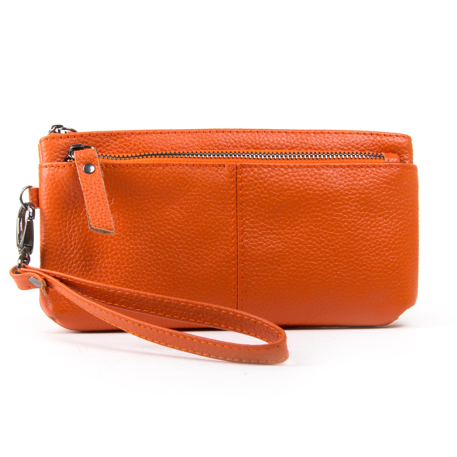 Косметичка кожа A-00276-10 orange