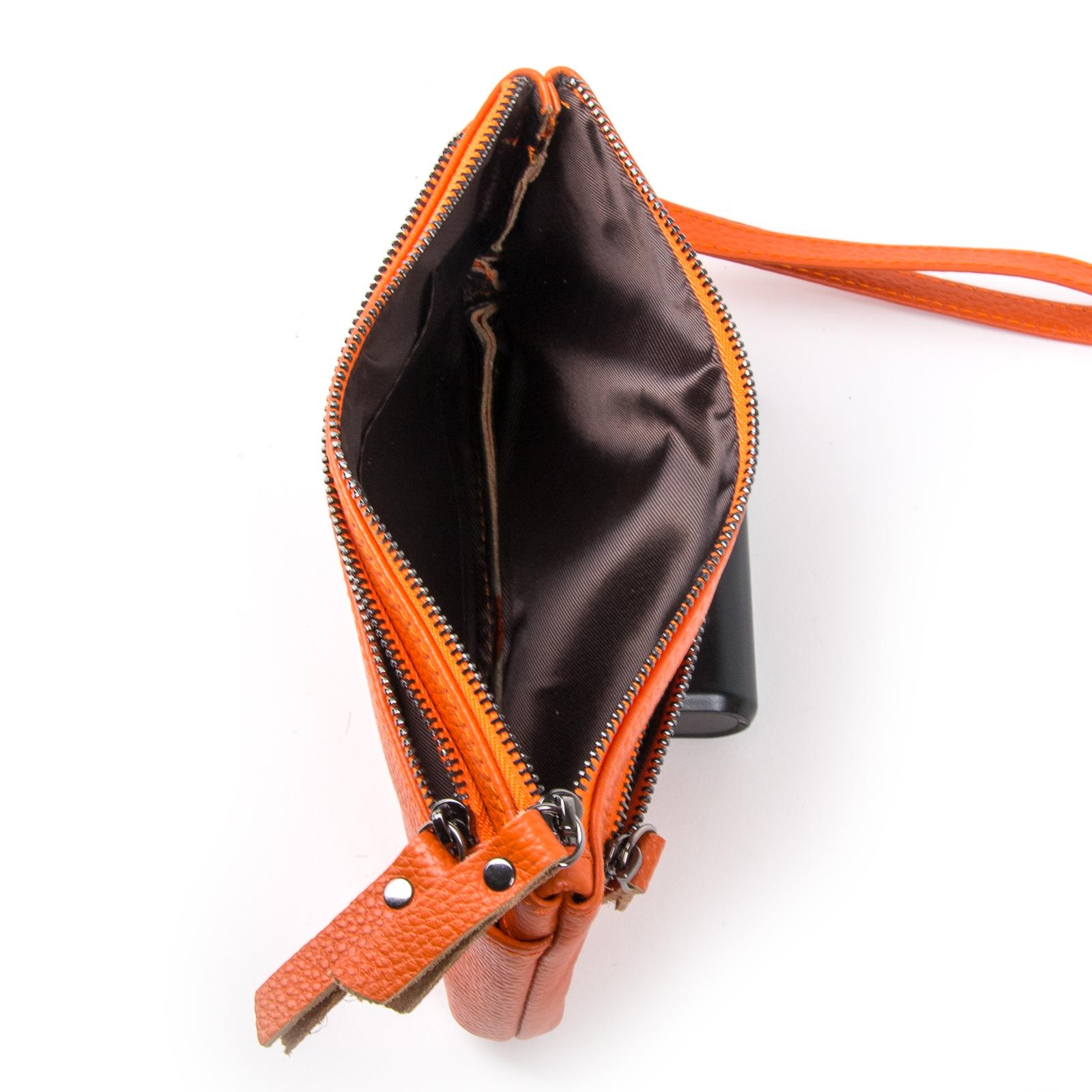 Косметичка кожа A-00276-10 orange - фото 4