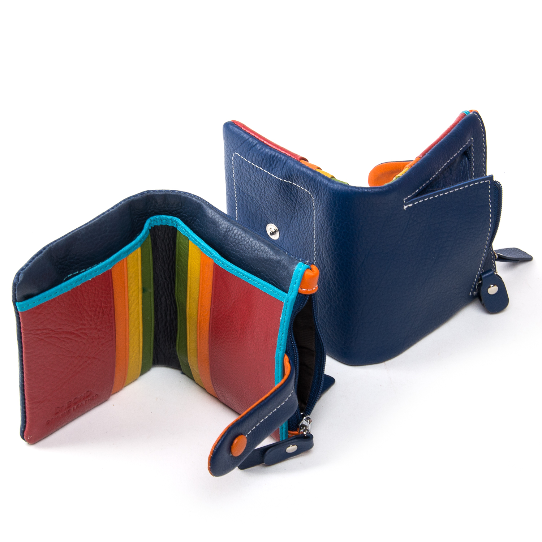 Кошелек Rainbow кожа DR. BOND WRN-1 blue - фото 4