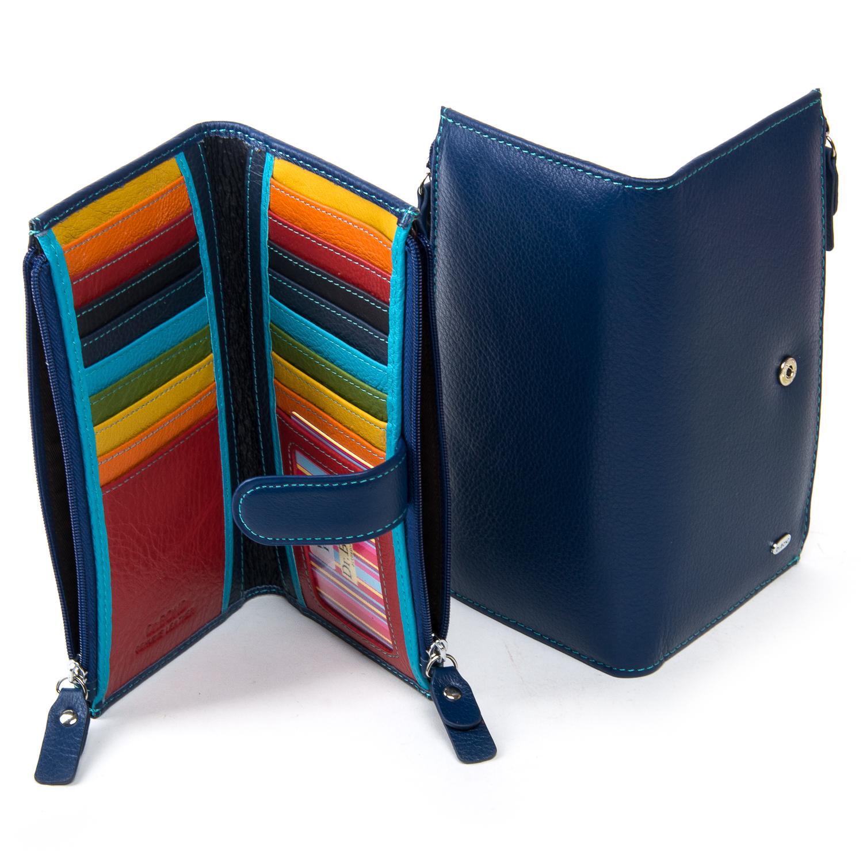 Кошелек Rainbow кожа DR. BOND WRN-23 blue - фото 4