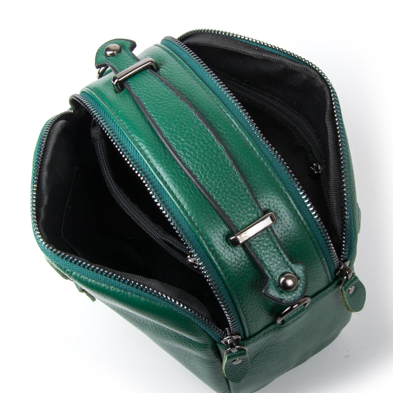 Сумка Женская Клатч кожа ALEX RAI 1-02 2906-12 green - фото 4