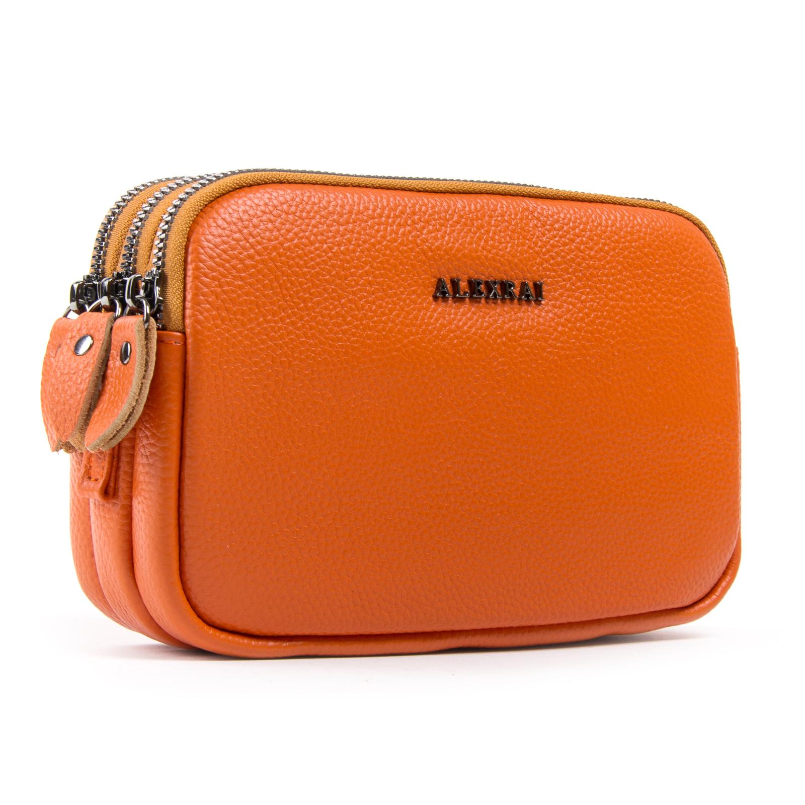 Сумка Женская Клатч кожа ALEX RAI 1-02 60061-10 orange