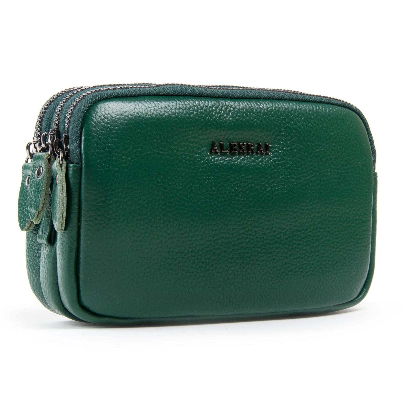 Сумка Женская Клатч кожа ALEX RAI 1-02 60061-12 green