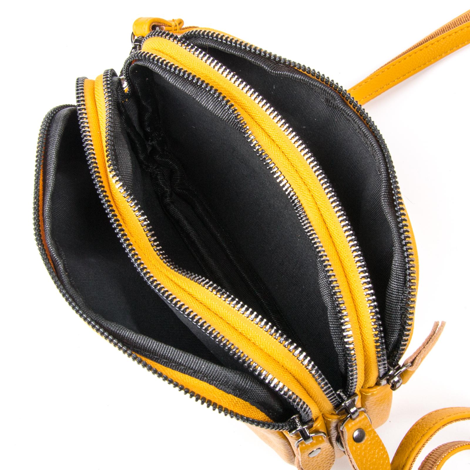 Сумка Женская Клатч кожа ALEX RAI 1-02 60061-9 yellow - фото 4