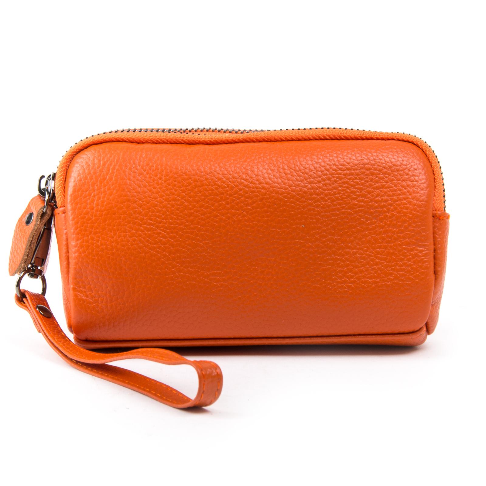 Косметичка кожа 6002-10 orange