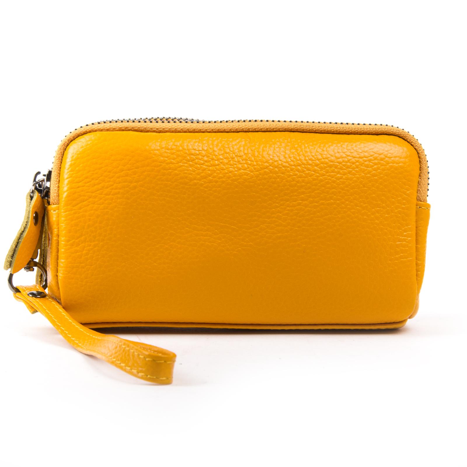 Косметичка кожа 6002-9 yellow