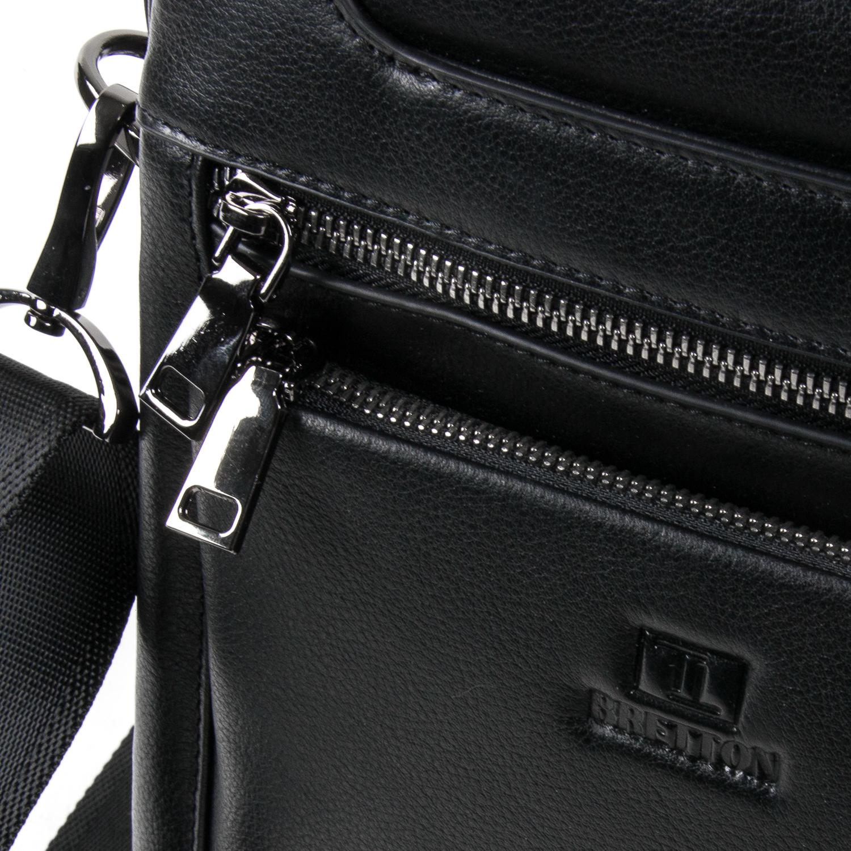 Сумка Мужская Планшет кожаный BRETTON BE N2038-3 black - фото 3