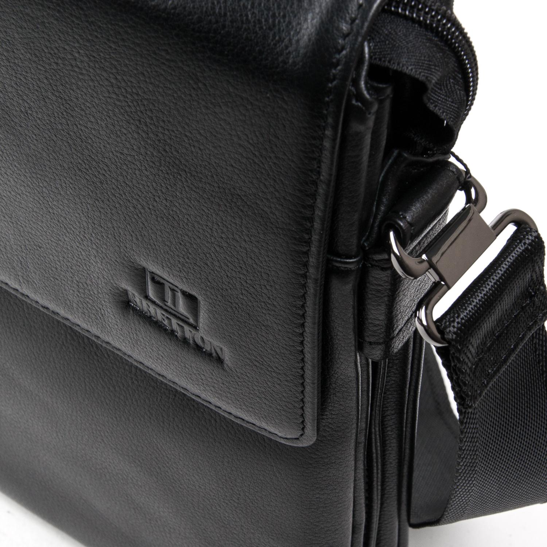 Сумка Мужская Планшет кожаный BRETTON BE N2040-3 black - фото 3