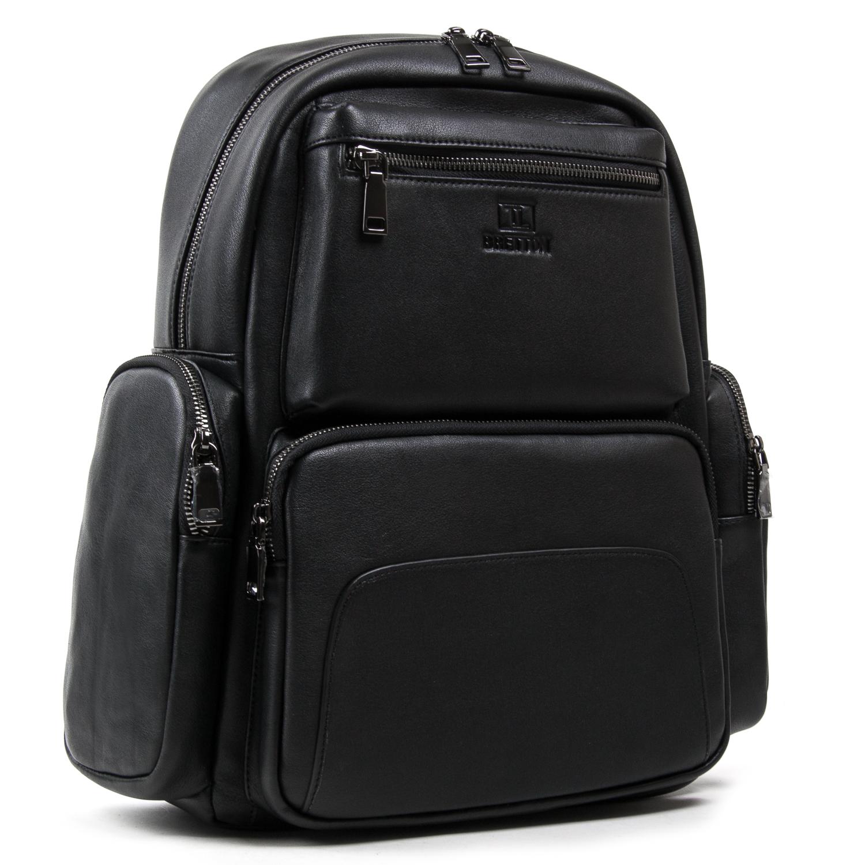Рюкзак Городской кожаный BRETTON BE k1650-3 black