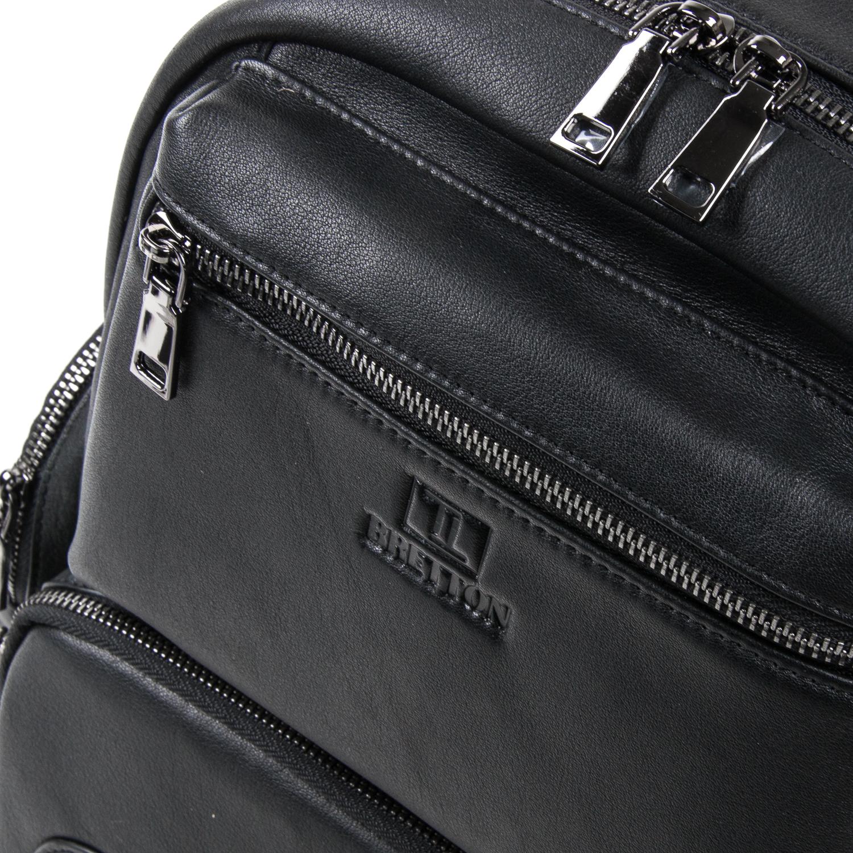 Рюкзак Городской кожаный BRETTON BE k1650-3 black - фото 3