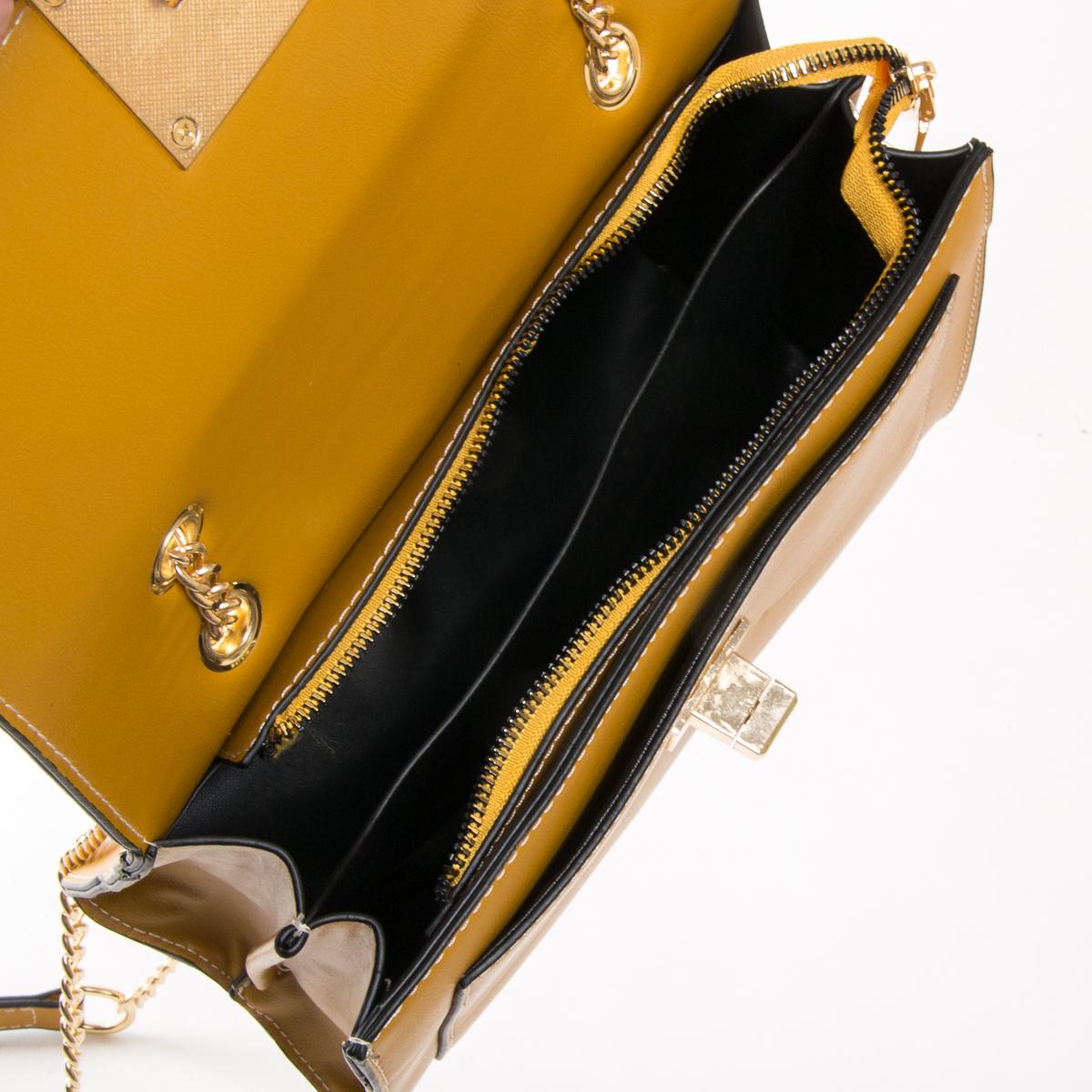 Сумка Женская Классическая иск-кожа FASHION 01-00 810 yellow - фото 5