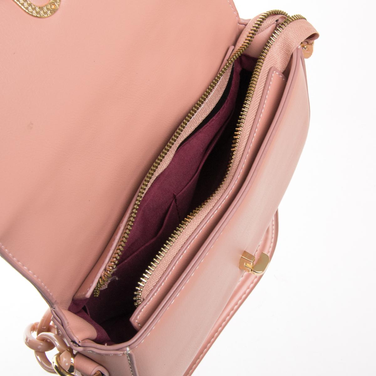 Сумка Женская Классическая иск-кожа FASHION 01-00 8697 pink - фото 5