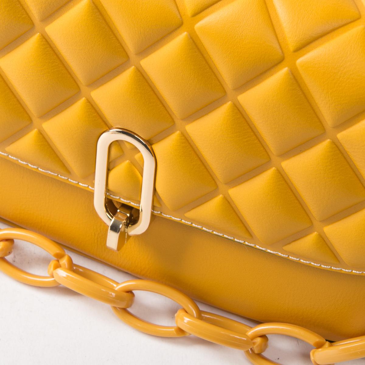 Сумка Женская Классическая иск-кожа FASHION 01-00 8697 yellow - фото 3